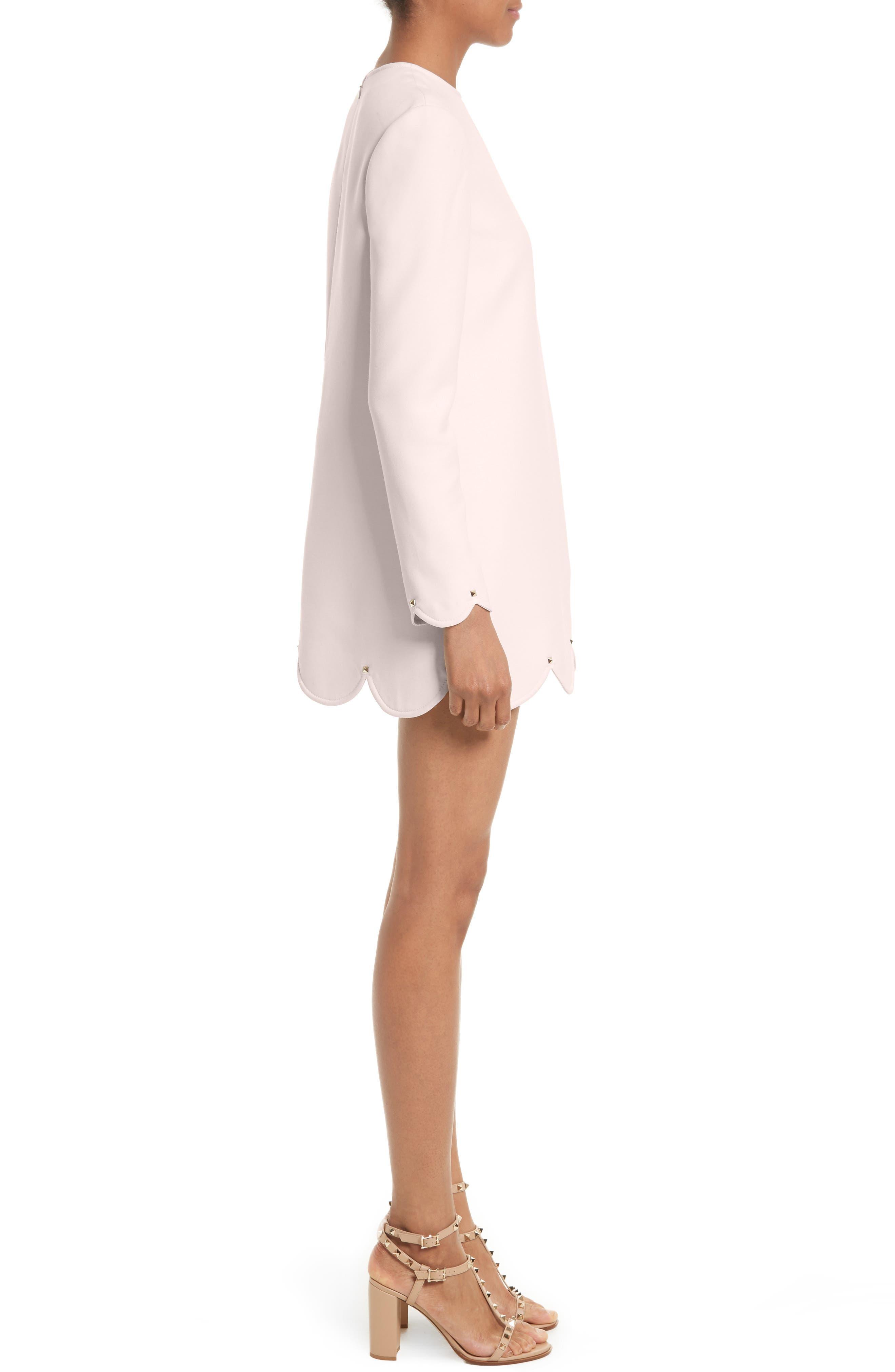 Alternate Image 4  - Valentino Scallop Hem Wool & Silk Shift Dress