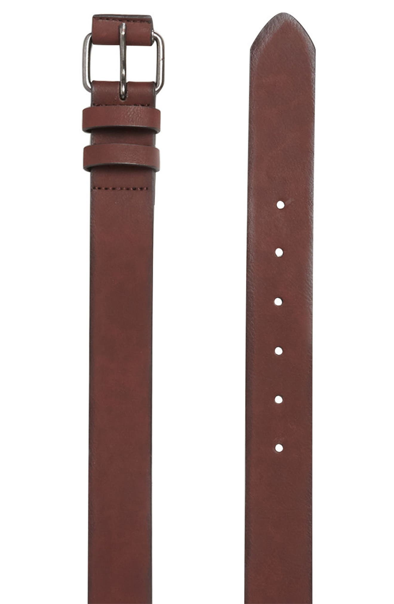 Alternate Image 3  - Topman Faux Leather Belt