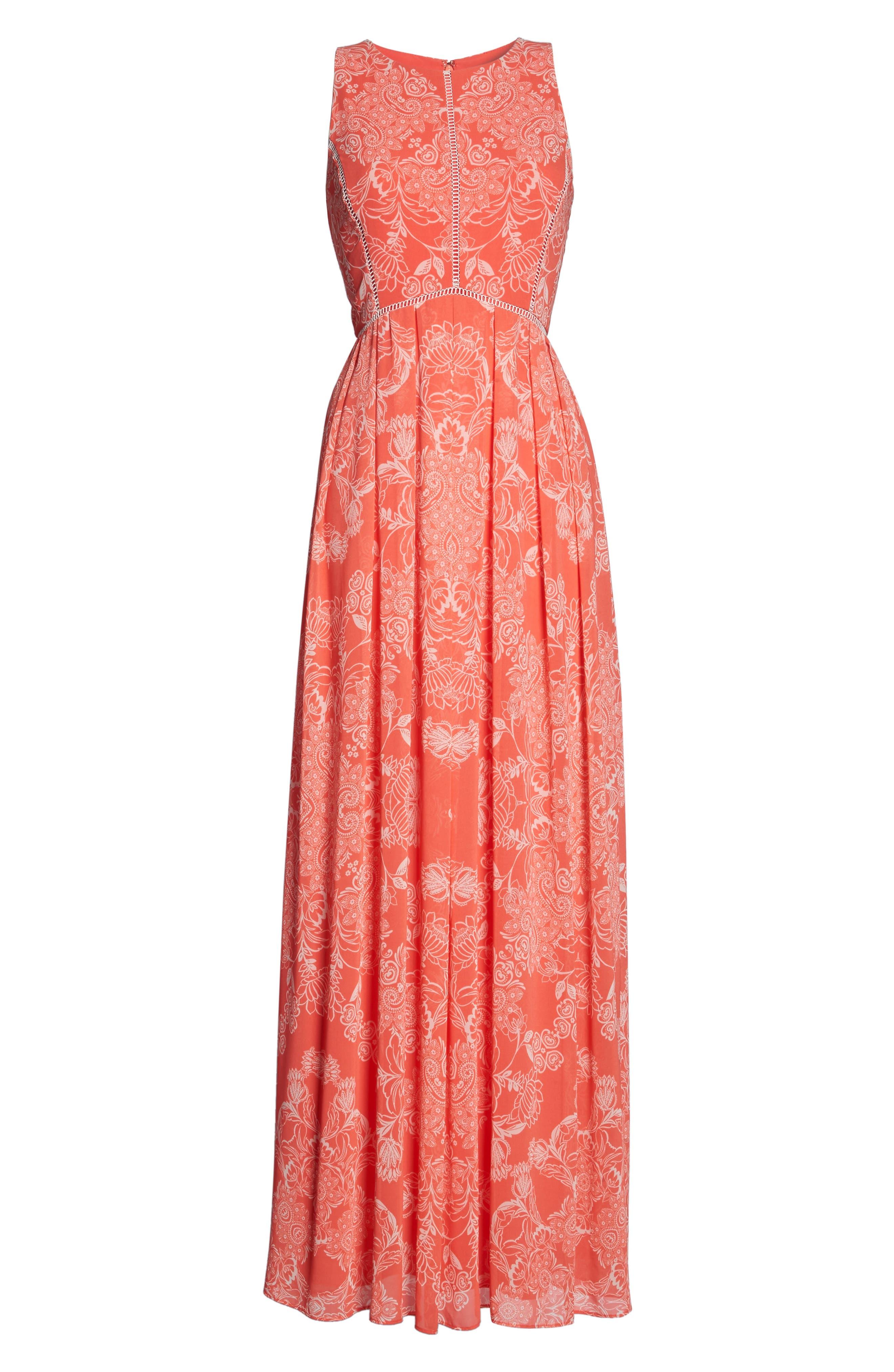 Alternate Image 6  - Vince Camuto Chiffon Maxi Dress (Regular & Petite)