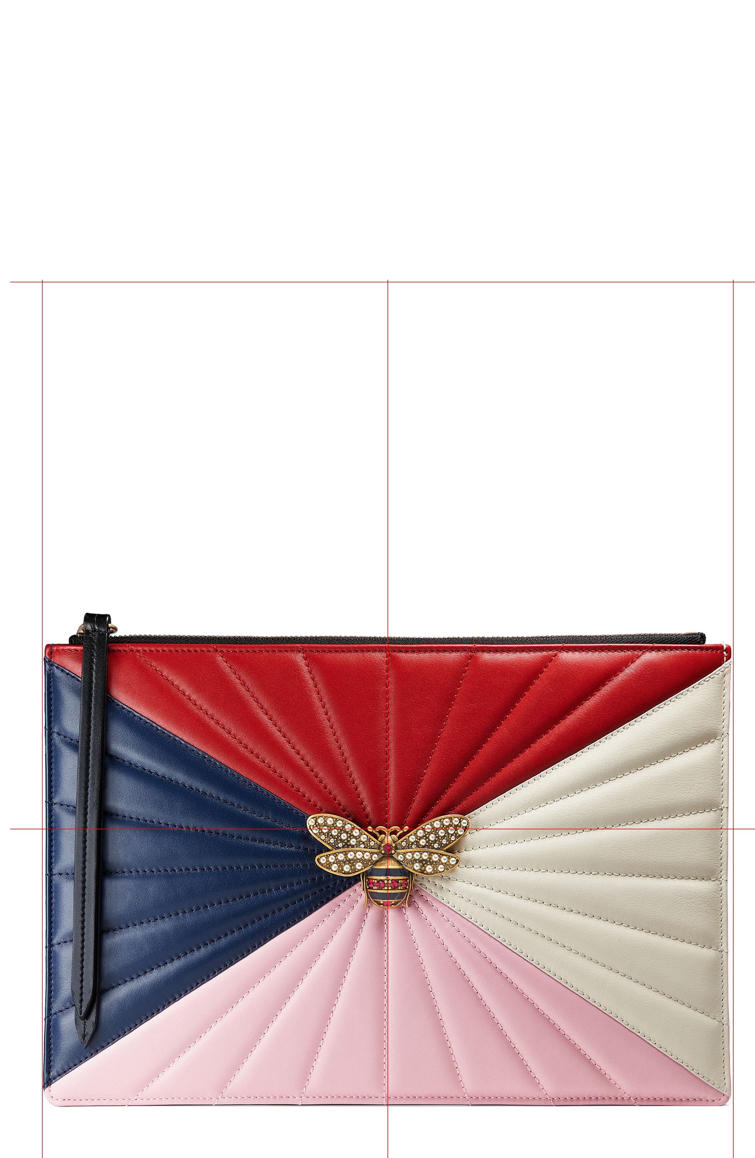 Main Image - Gucci Bee Zip Pouch