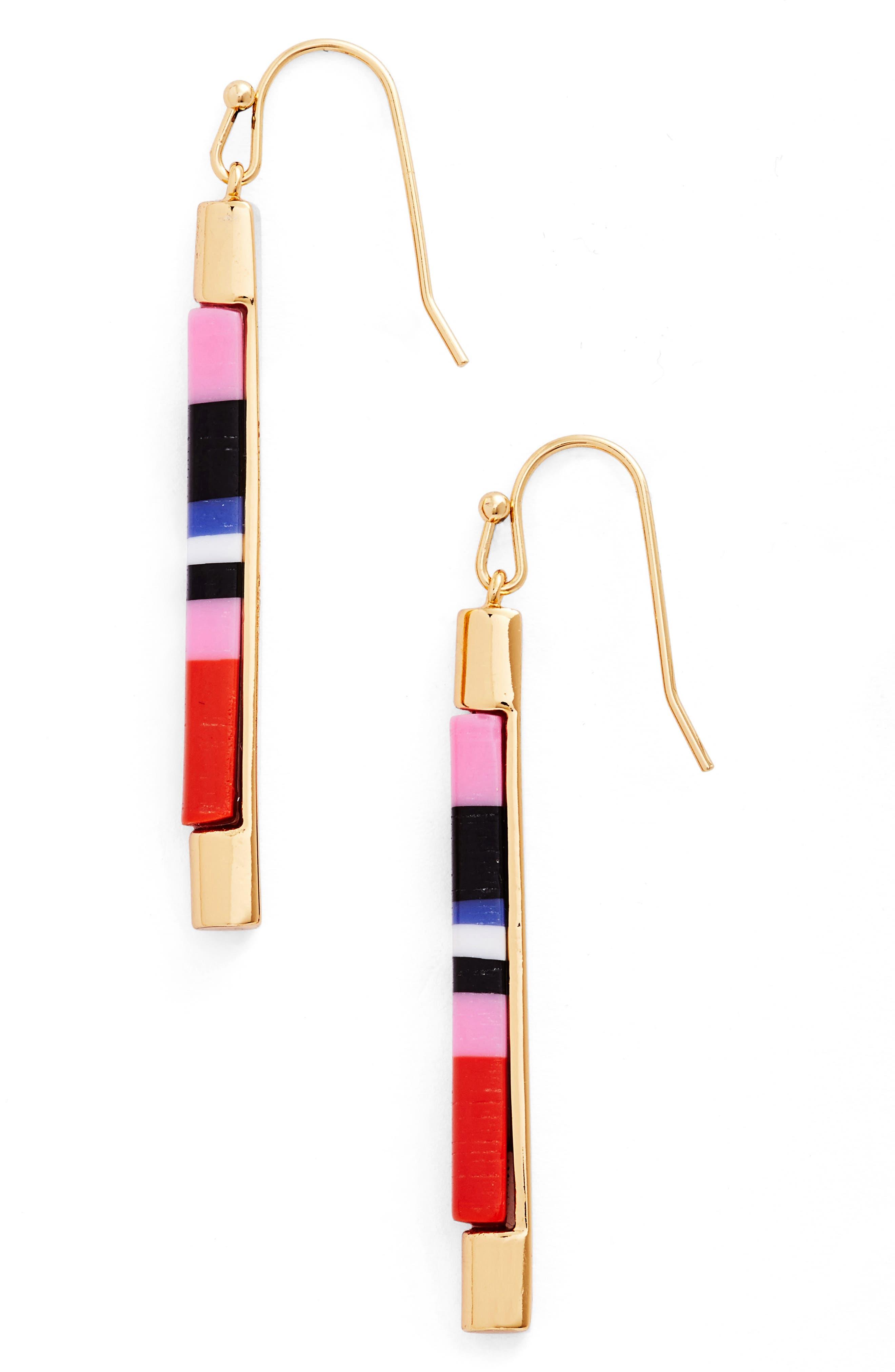 KATE SPADE NEW YORK kate spade building blocks drop earrings