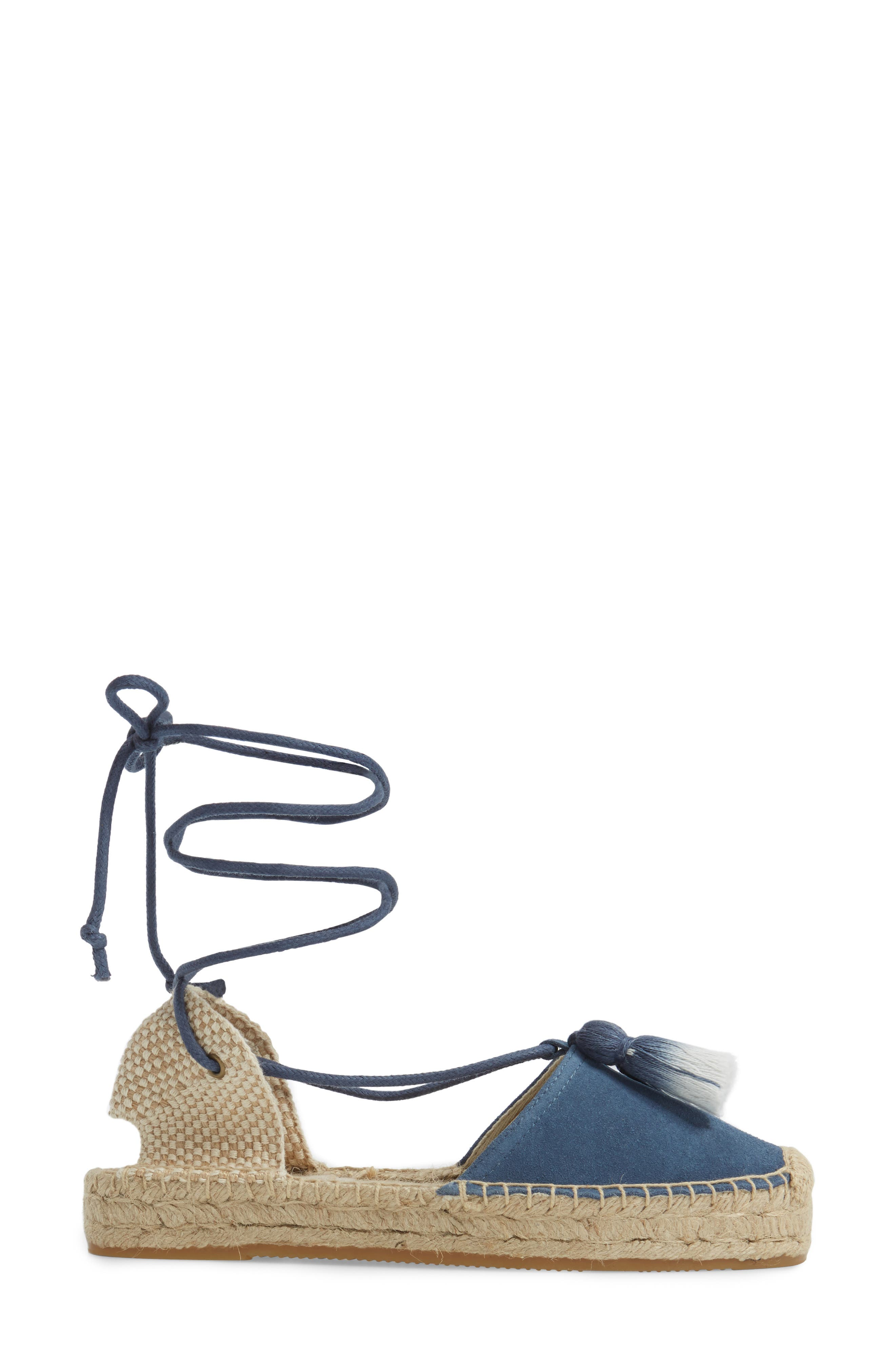 Alternate Image 3  - Soludos Tassel Lace-Up Espadrille (Women)