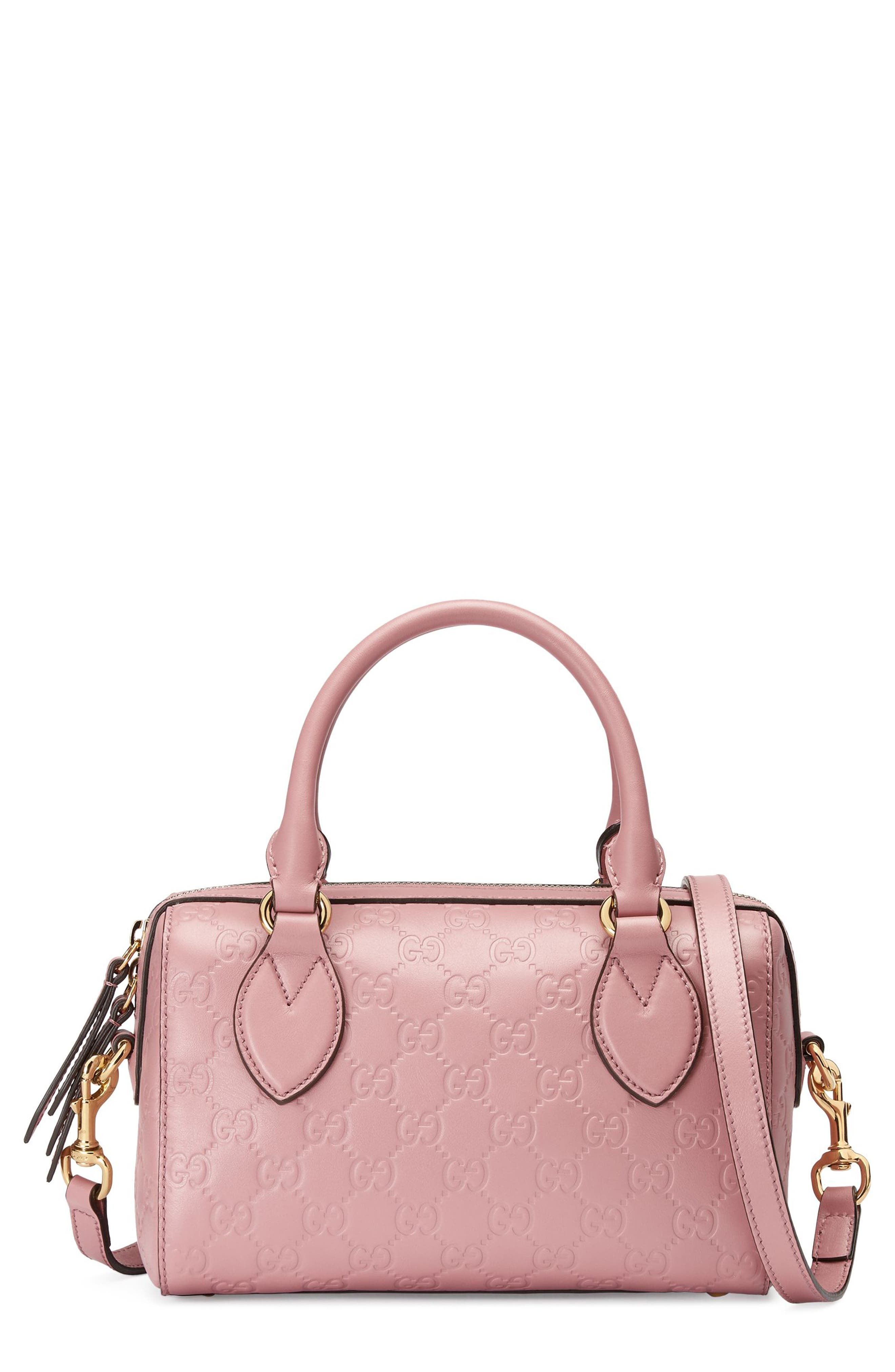 Alternate Image 1 Selected - Gucci Small Top Handle Signature Leather Satchel