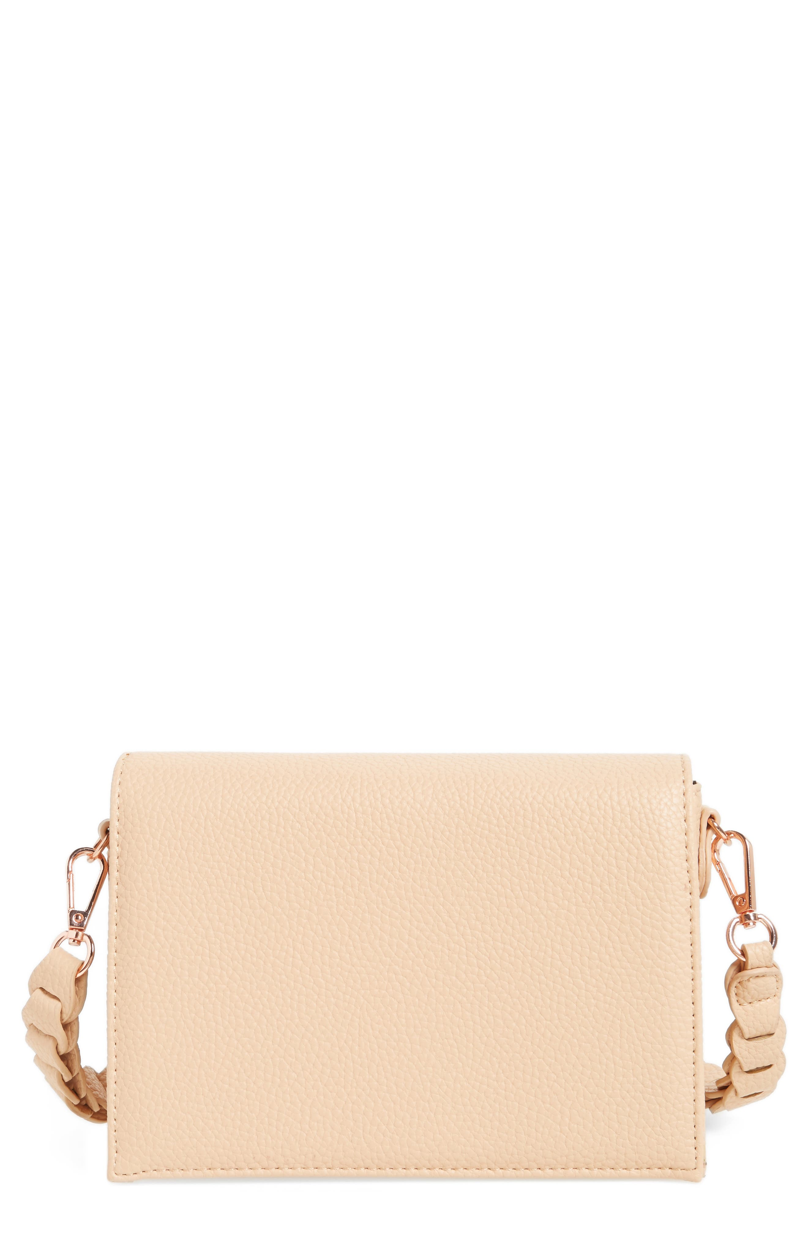 Street Level Braided Handle Crossbody Bag