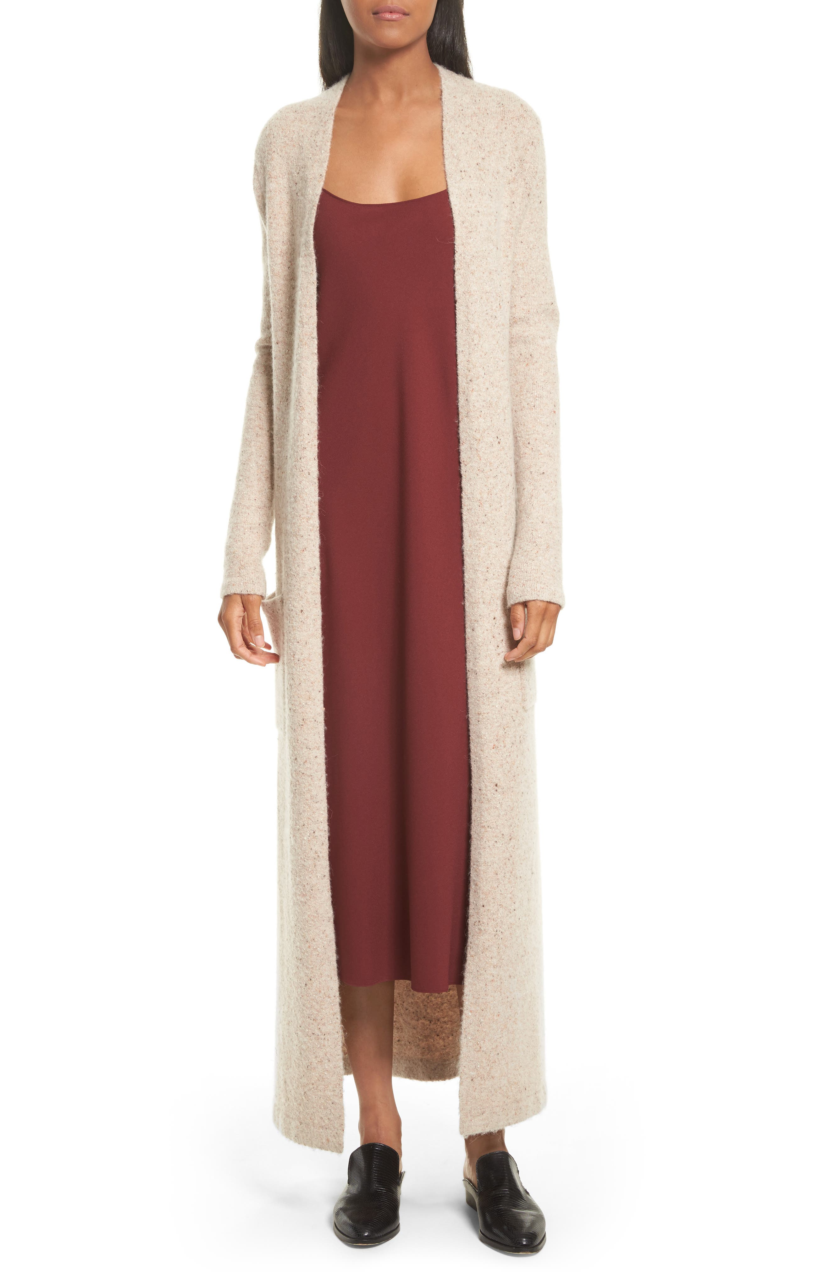 Torina Donegal Longline Cardigan,                             Main thumbnail 1, color,                             Oat Multi