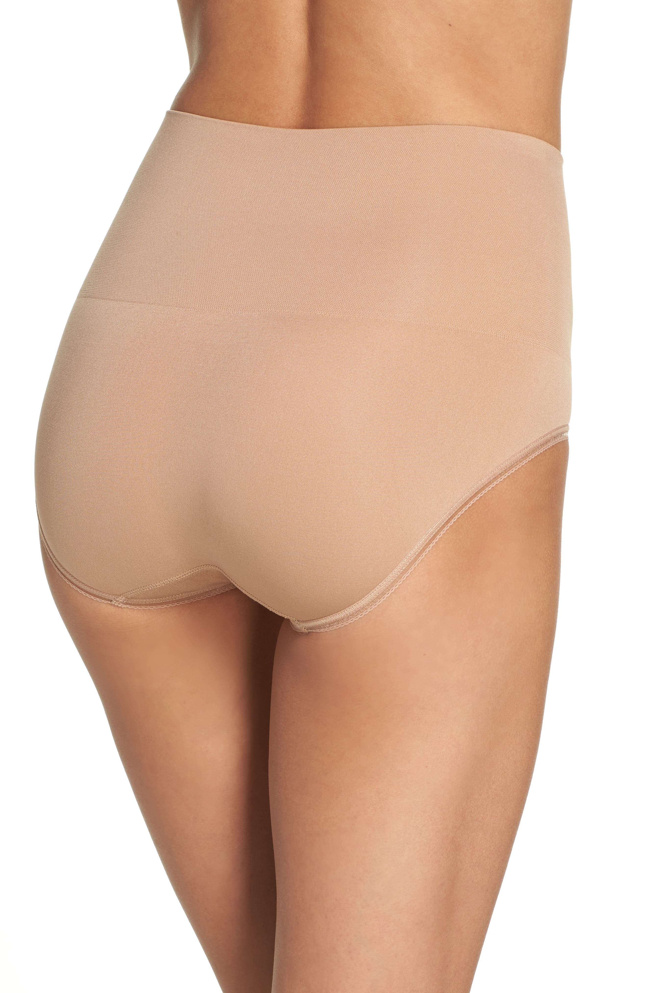 Ultralight Seamless Shaping Briefs,                             Alternate thumbnail 2, color,                             Almond