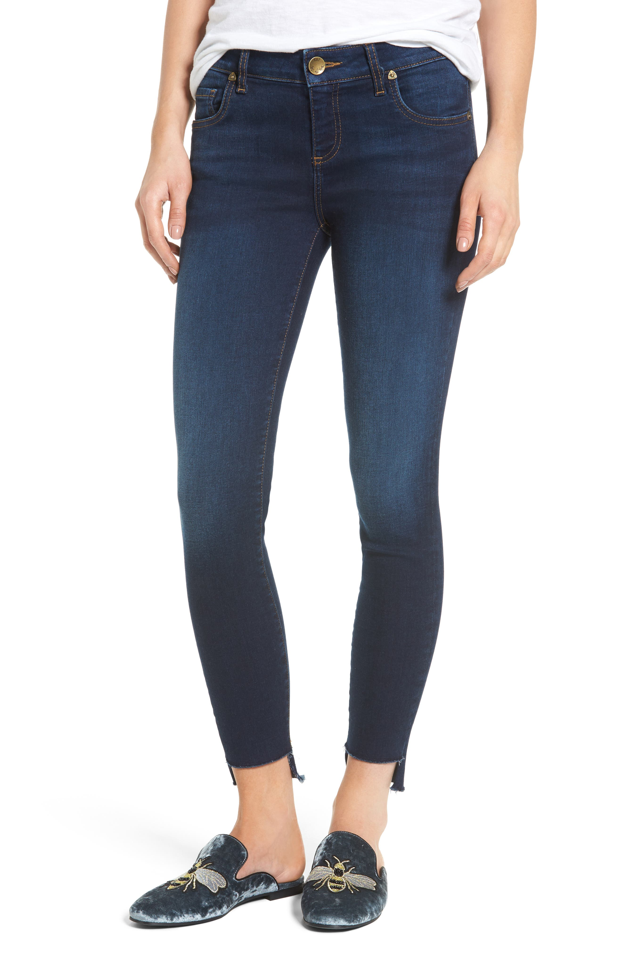 Main Image - KUT from the Kloth Connie Step Hem Ankle Jeans (Pacable) (Regular & Petite)