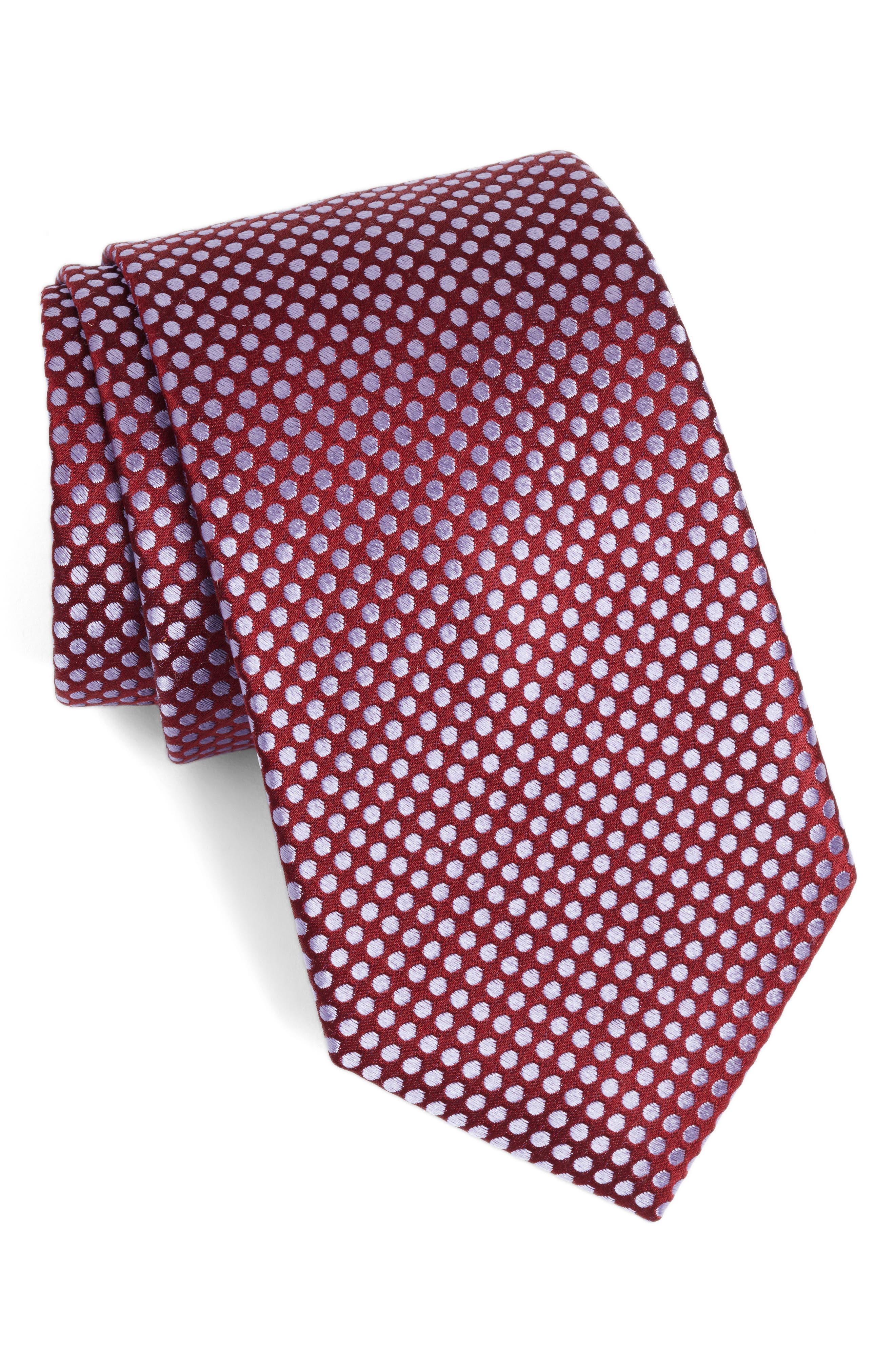 Calibrate Dot Silk Tie