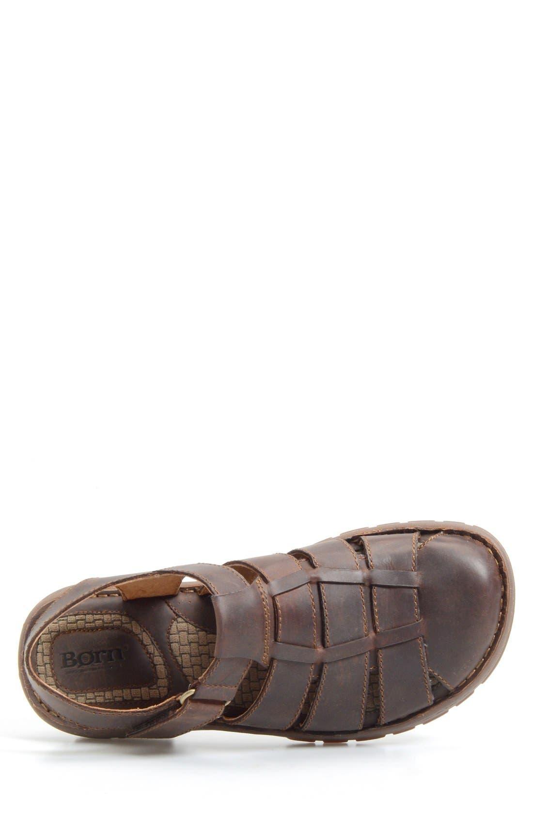 'Osmond' Leather Sandal,                             Alternate thumbnail 3, color,                             Mink
