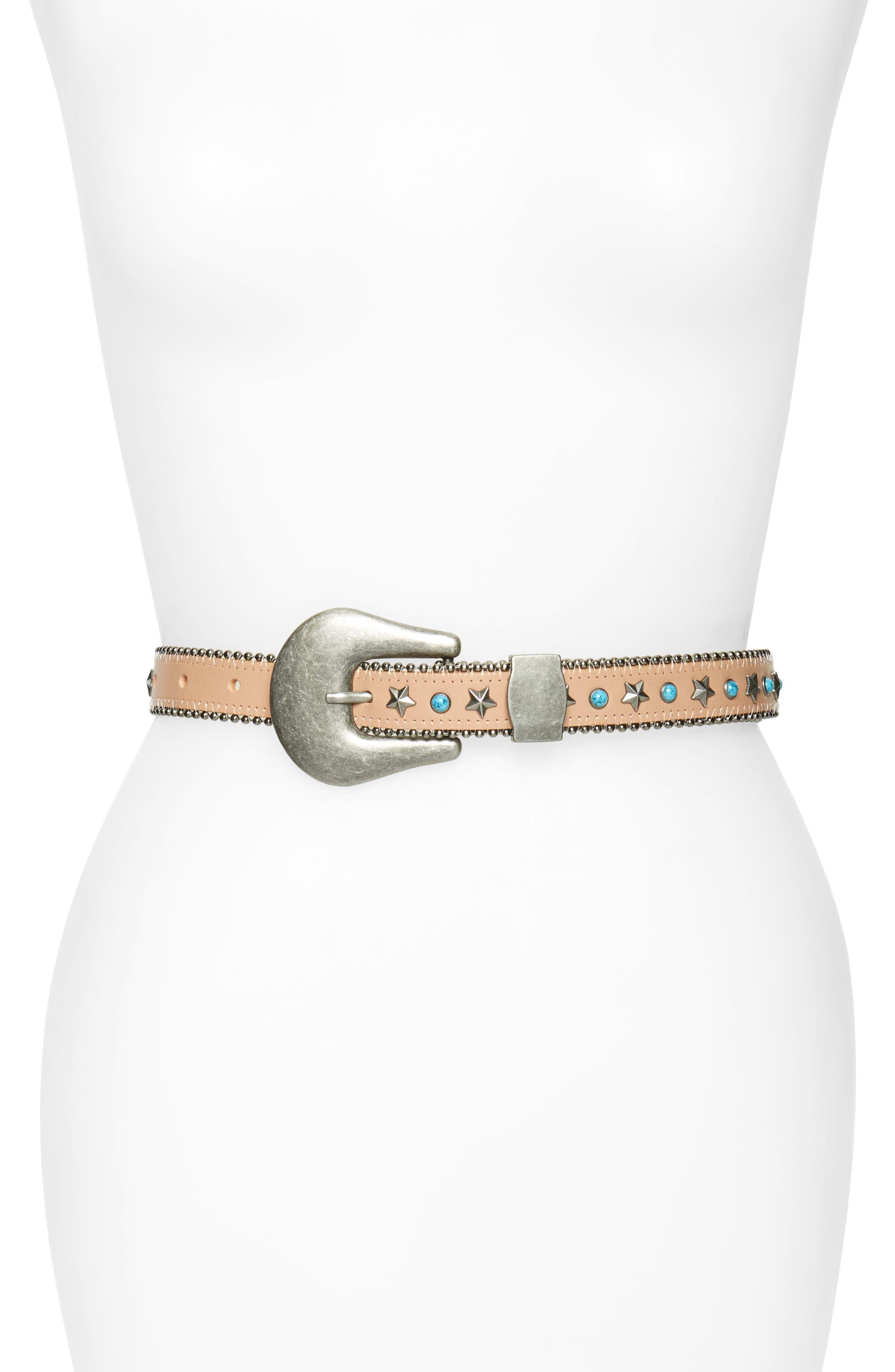 Alternate Image 1 Selected - B-Low the Belt Stella Embellished Leather Belt