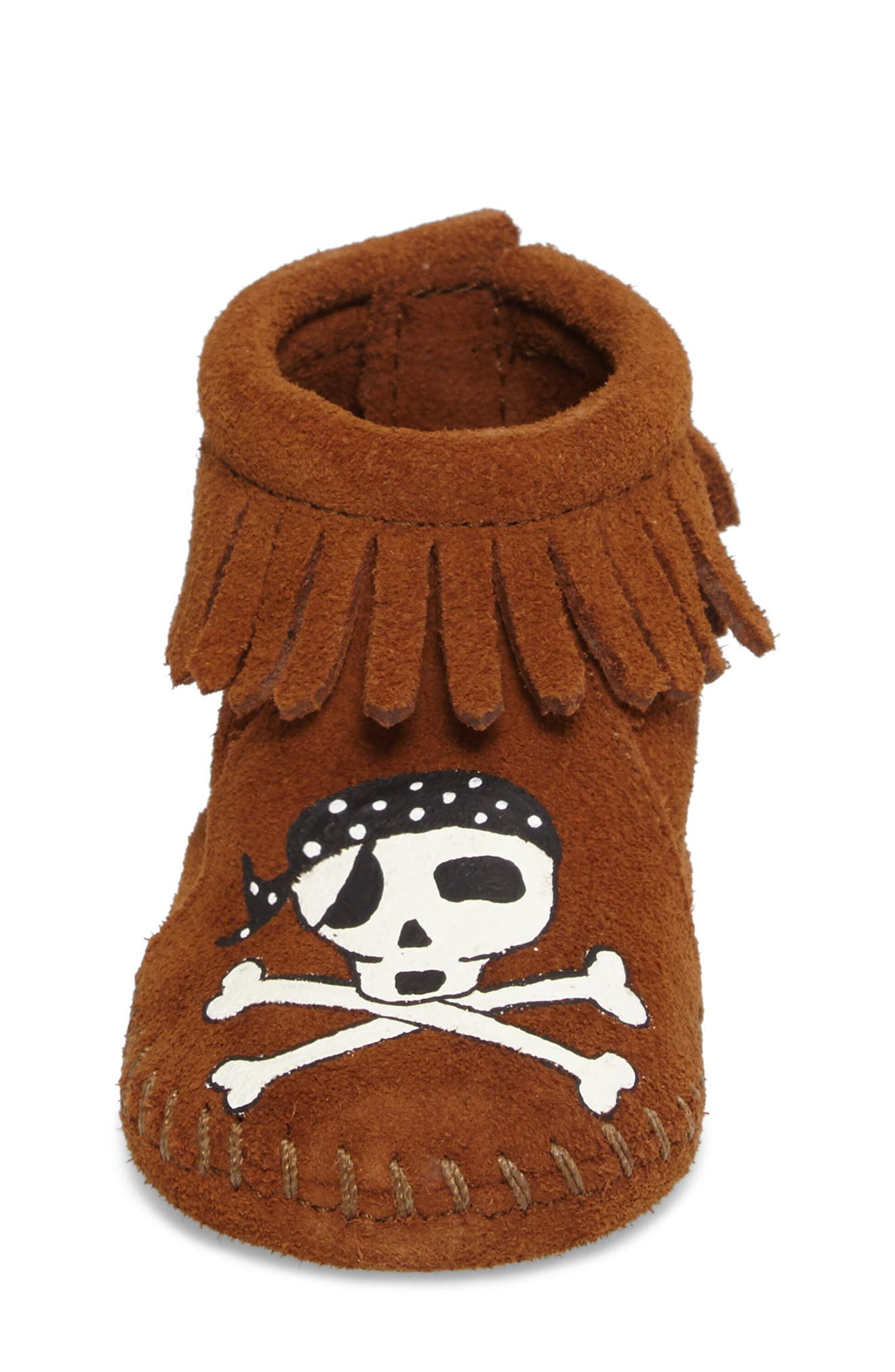 x Free Range Mama Sail into the Mystic Bootie,                             Alternate thumbnail 4, color,                             Brown Suede