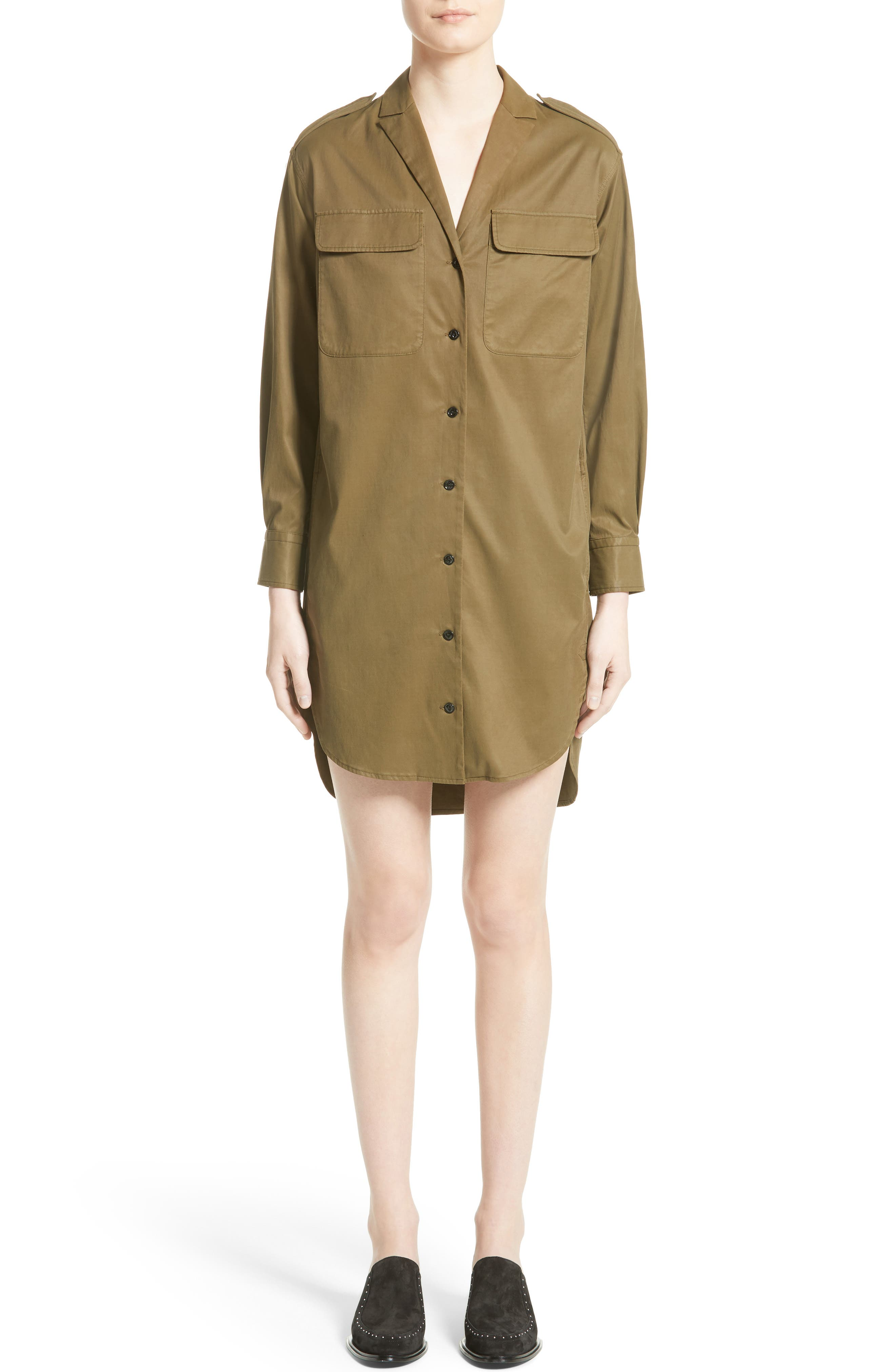 Mason Shirtdress,                         Main,                         color, Dark Olive