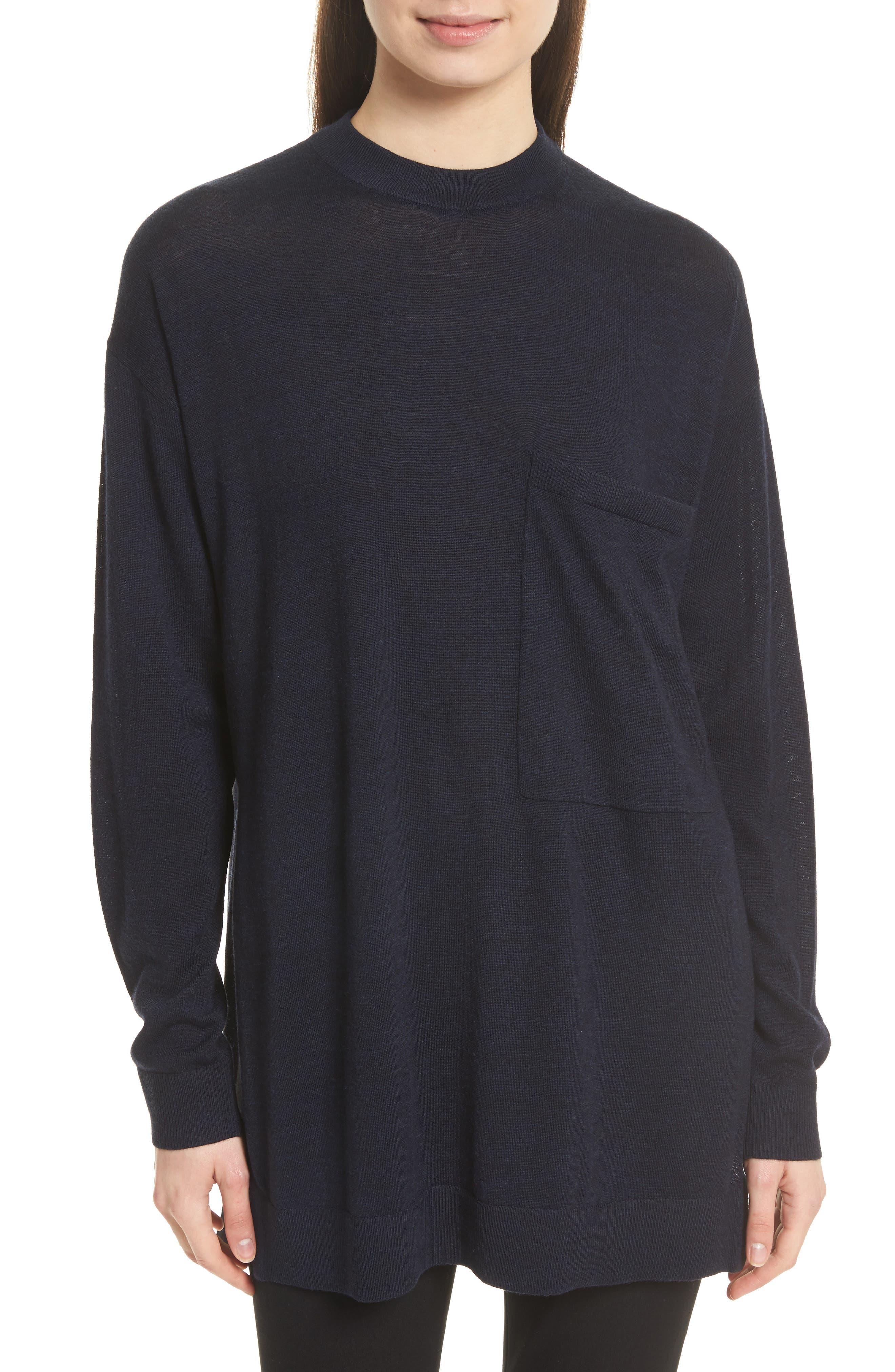 JOSEPH Fine Merino Wool Tunic Sweater