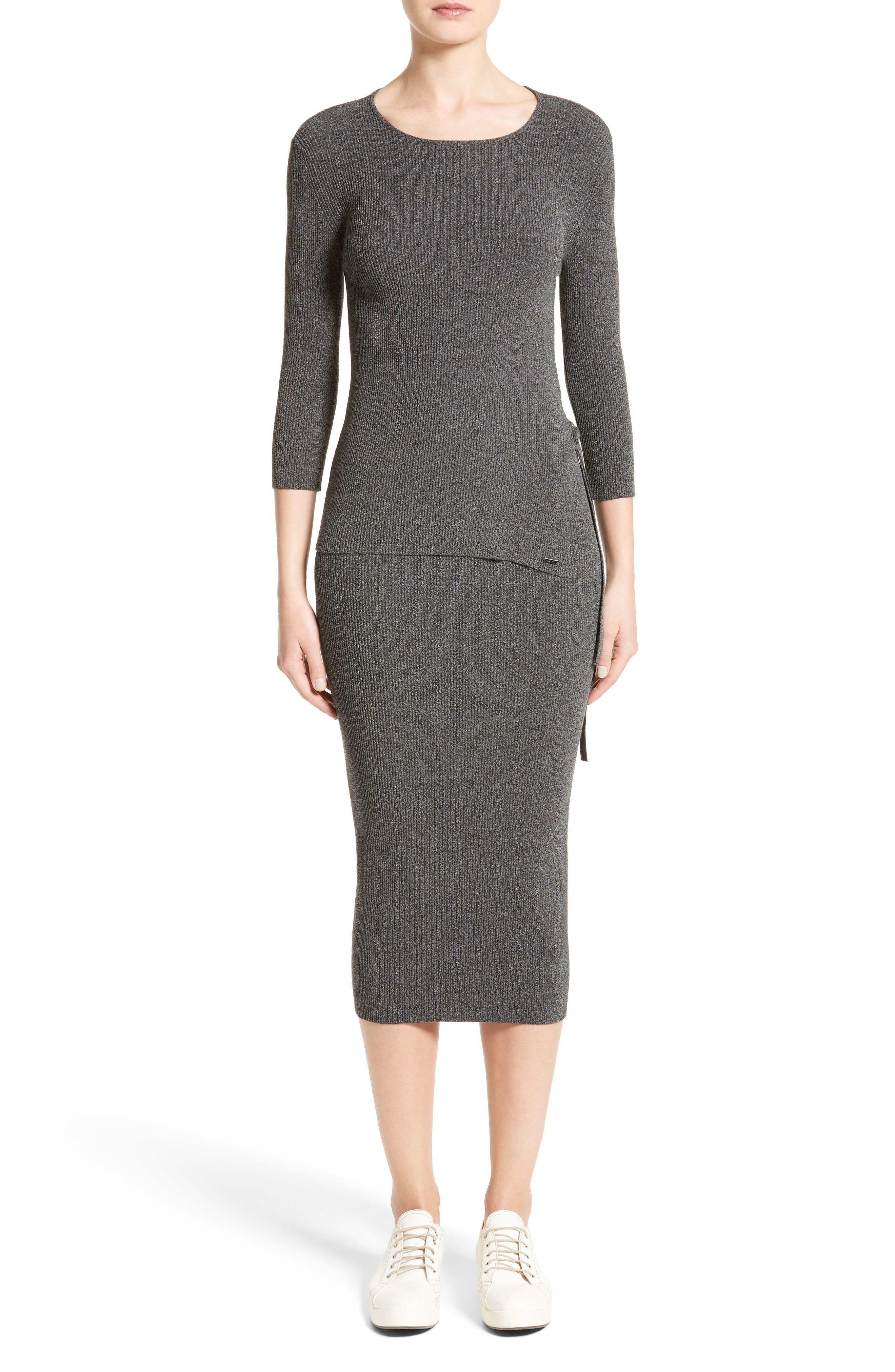 Alternate Image 7  - Armani Jeans Rib Knit Midi Skirt
