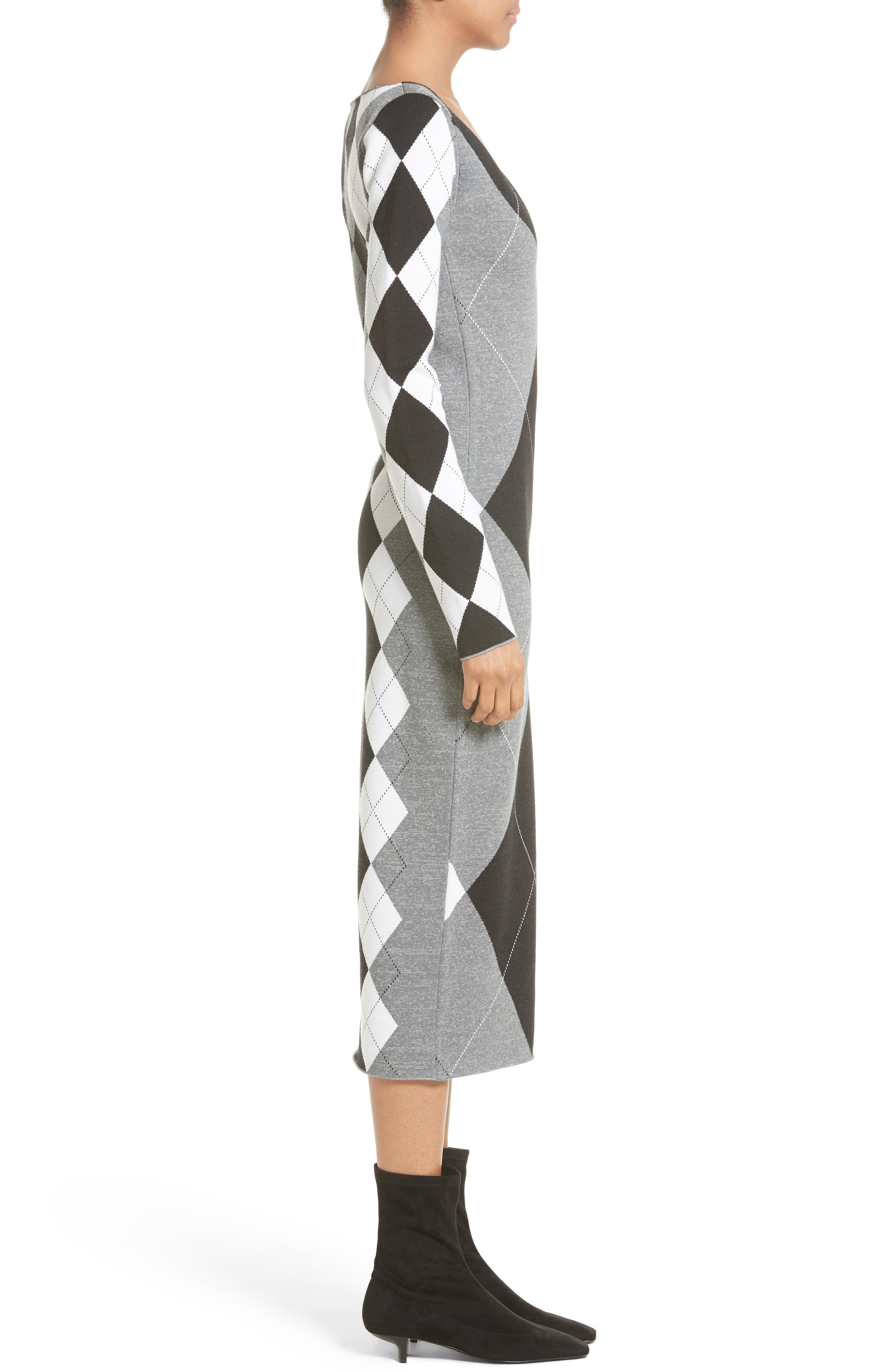 Alternate Image 5  - Stella McCartney Argyle Sweater Dress