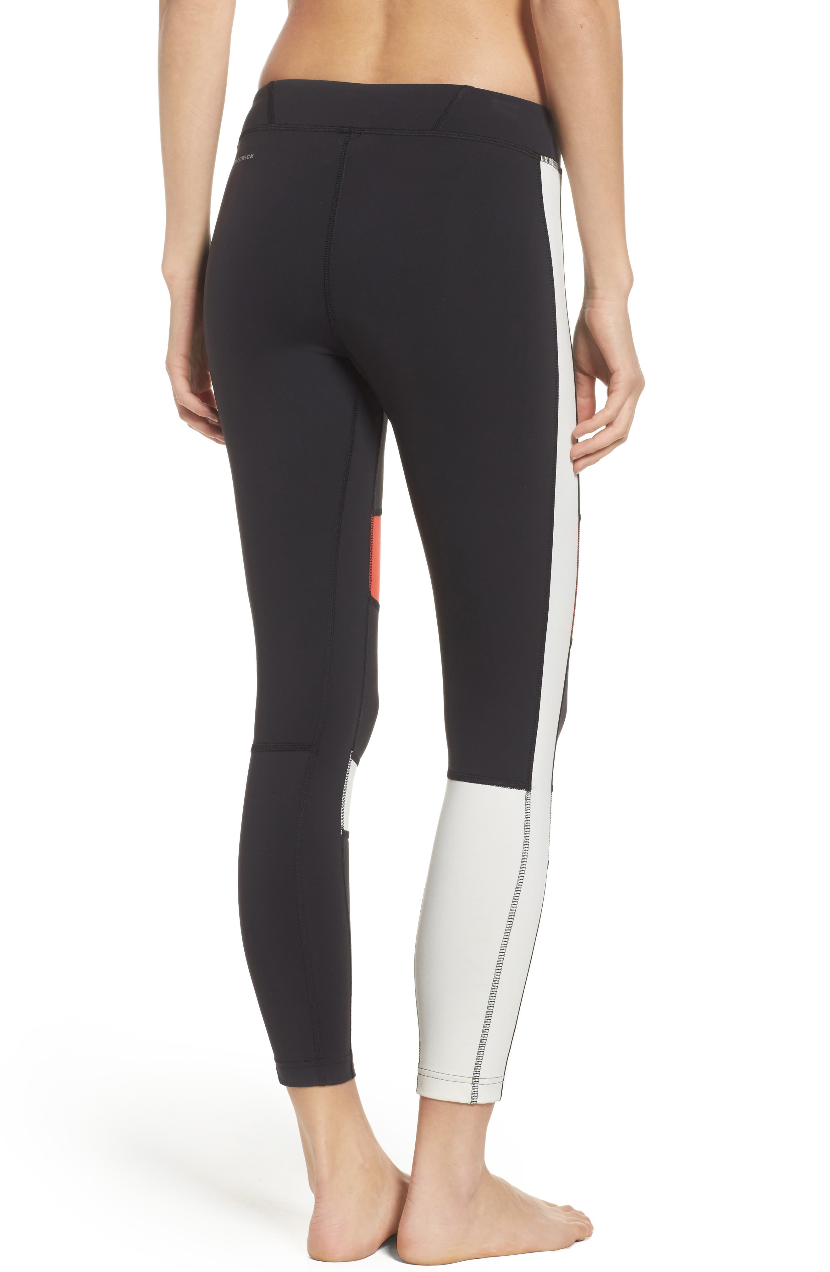 Speedwick Colorblock Tights,                             Alternate thumbnail 2, color,                             Black