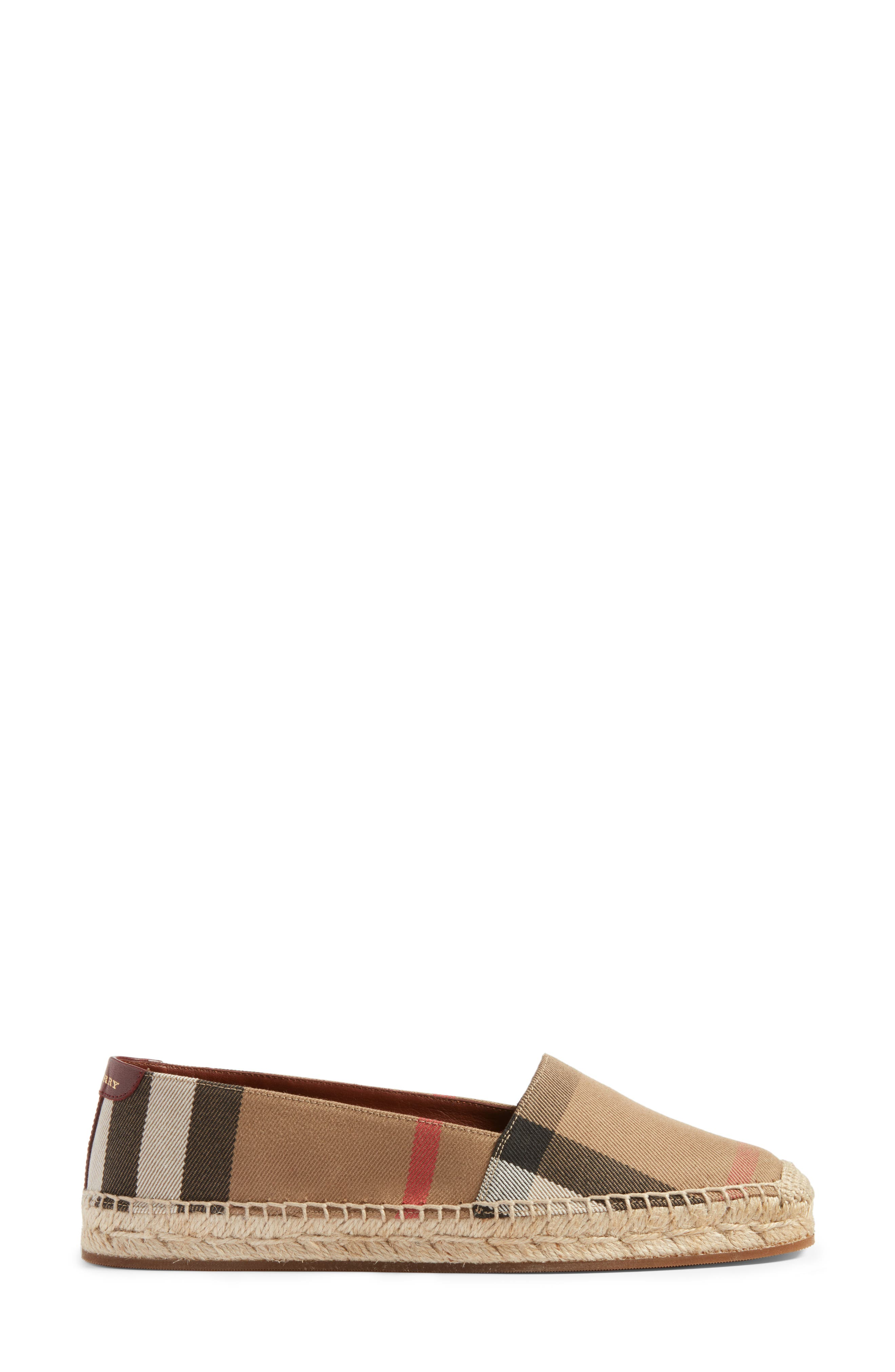 Alternate Image 3  - Burberry Check Print Espadrille Flat (Women)