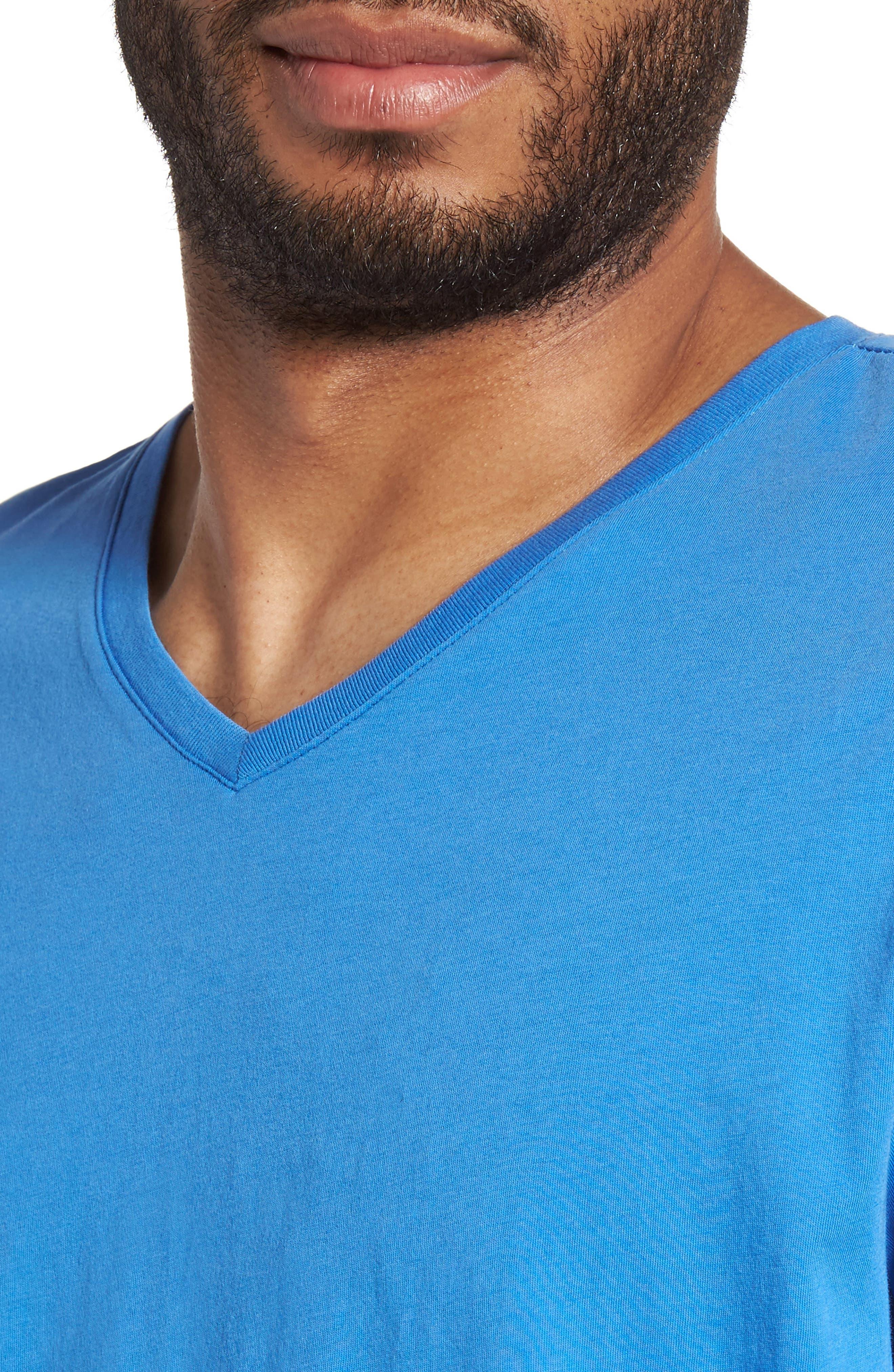 Alternate Image 4  - Slate & Stone Slim V-Neck T-Shirt