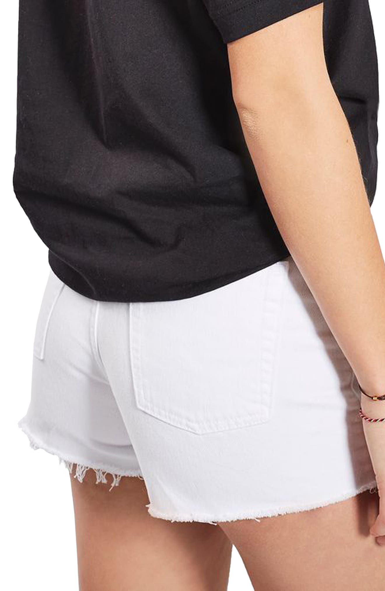 Alternate Image 3  - Topshop Longline Rip Mom Shorts (Regular & Petite)