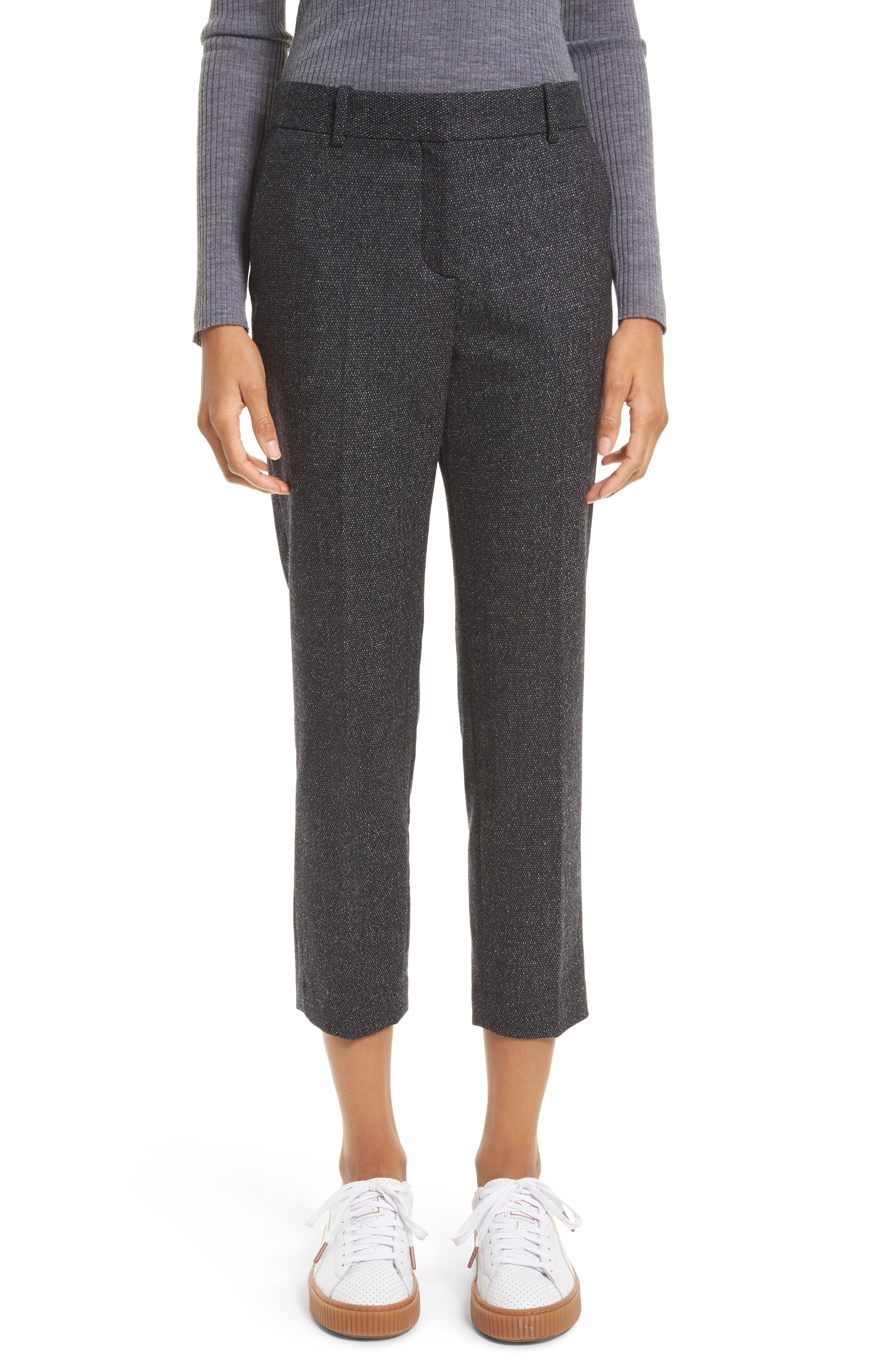 Theory Treeca 2 Flannel Tweed Pants