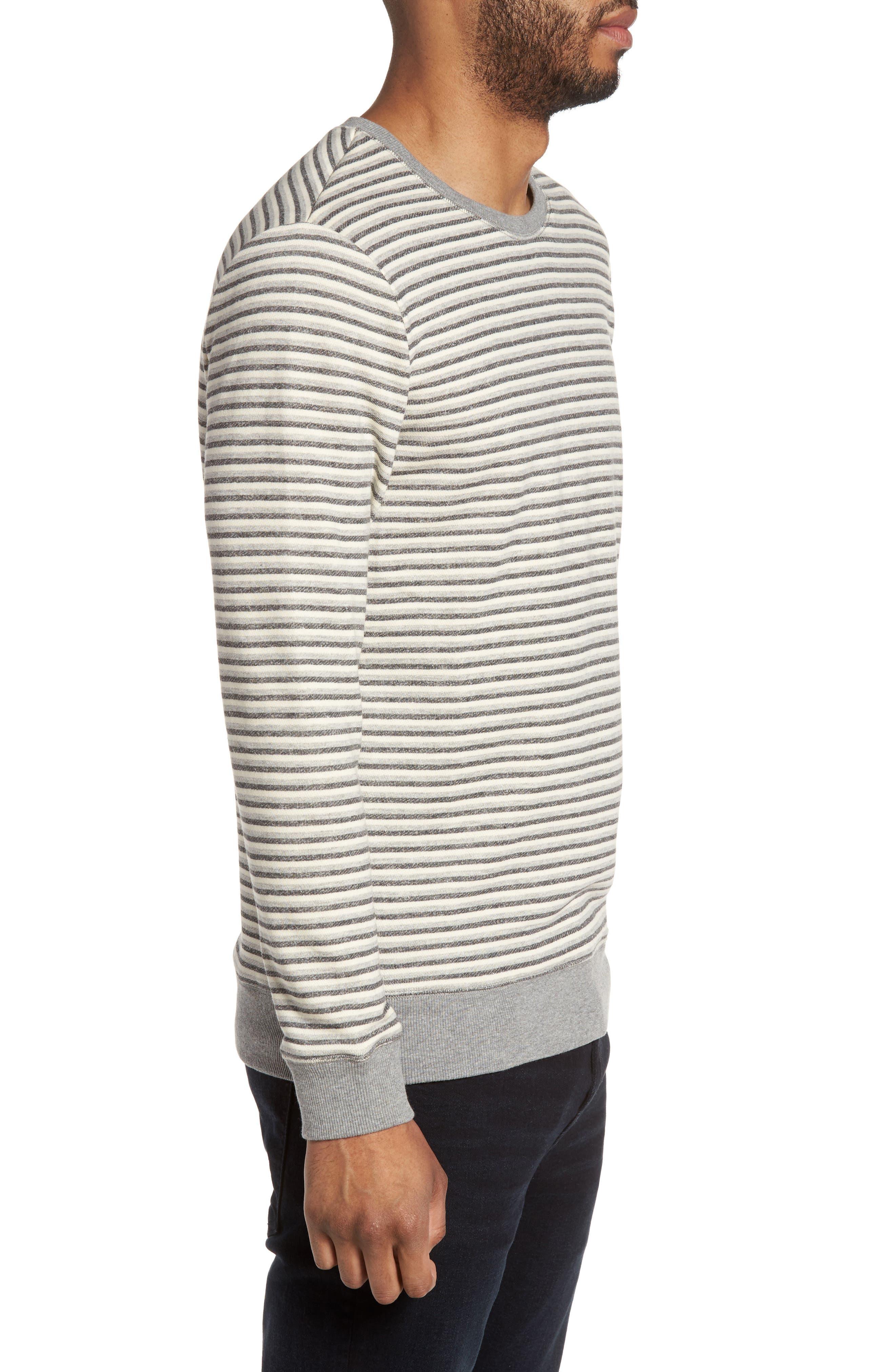 Alternate Image 3  - Slate & Stone Stripe Crewneck Sweatshirt