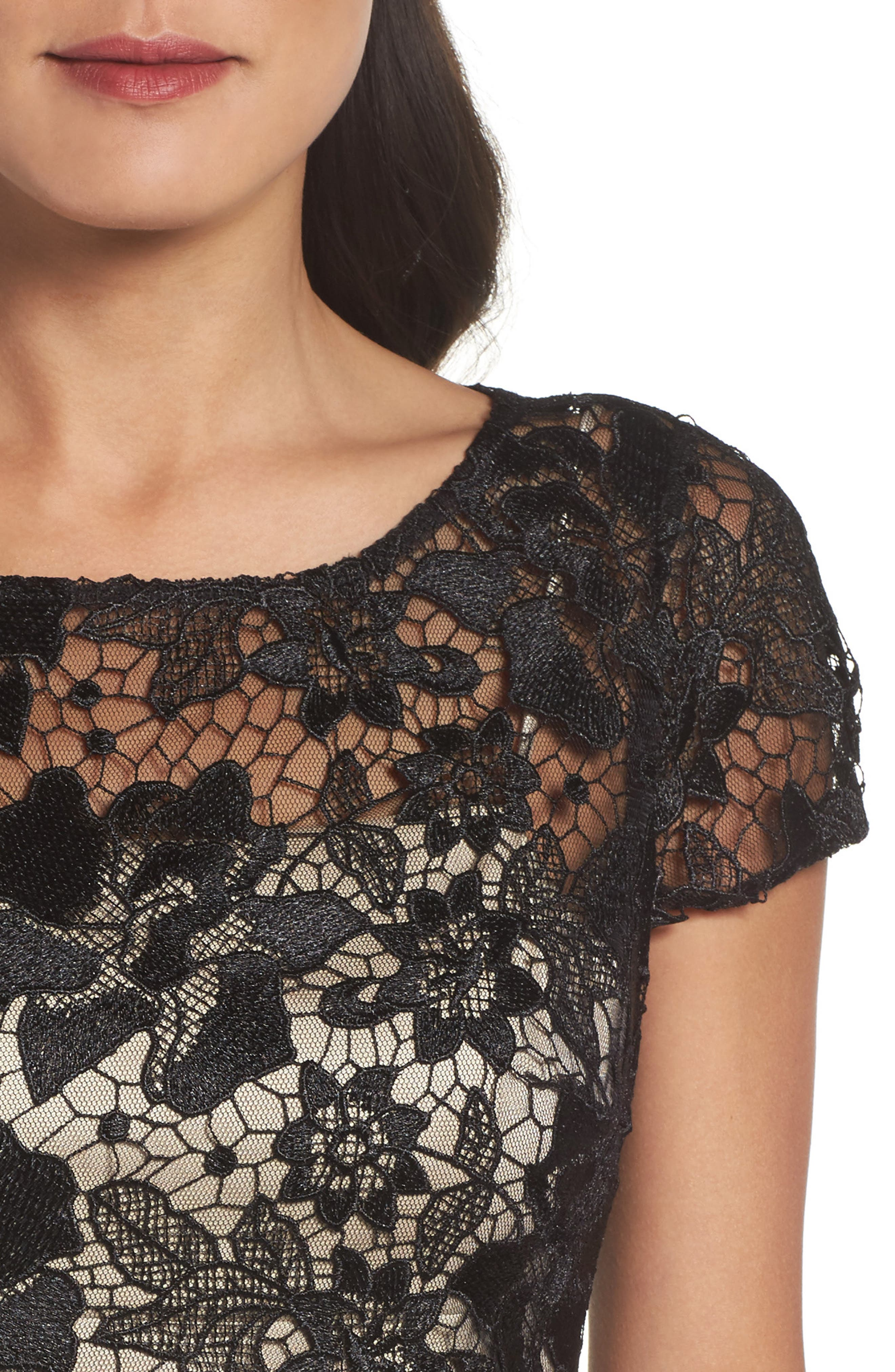 Alternate Image 4  - Adrianna Papell Lace Mermaid Gown