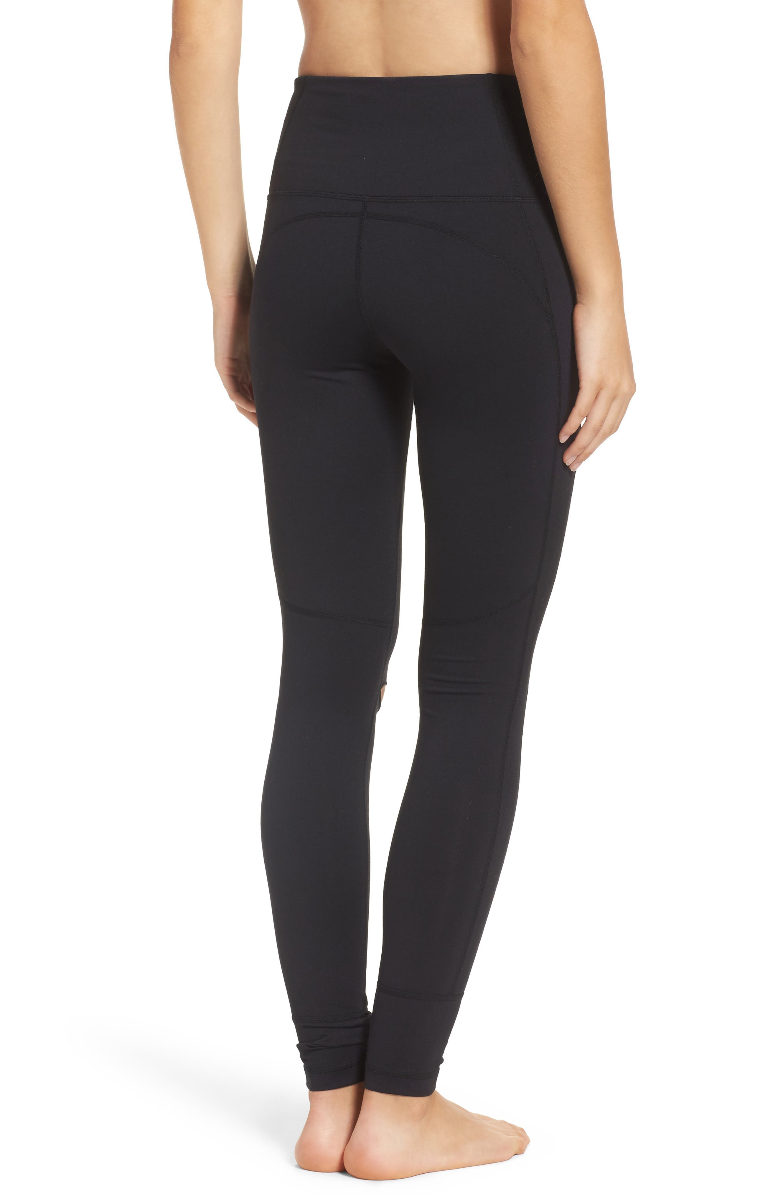 Alternate Image 2  - Zella Cece High Waist Open Knee Leggings