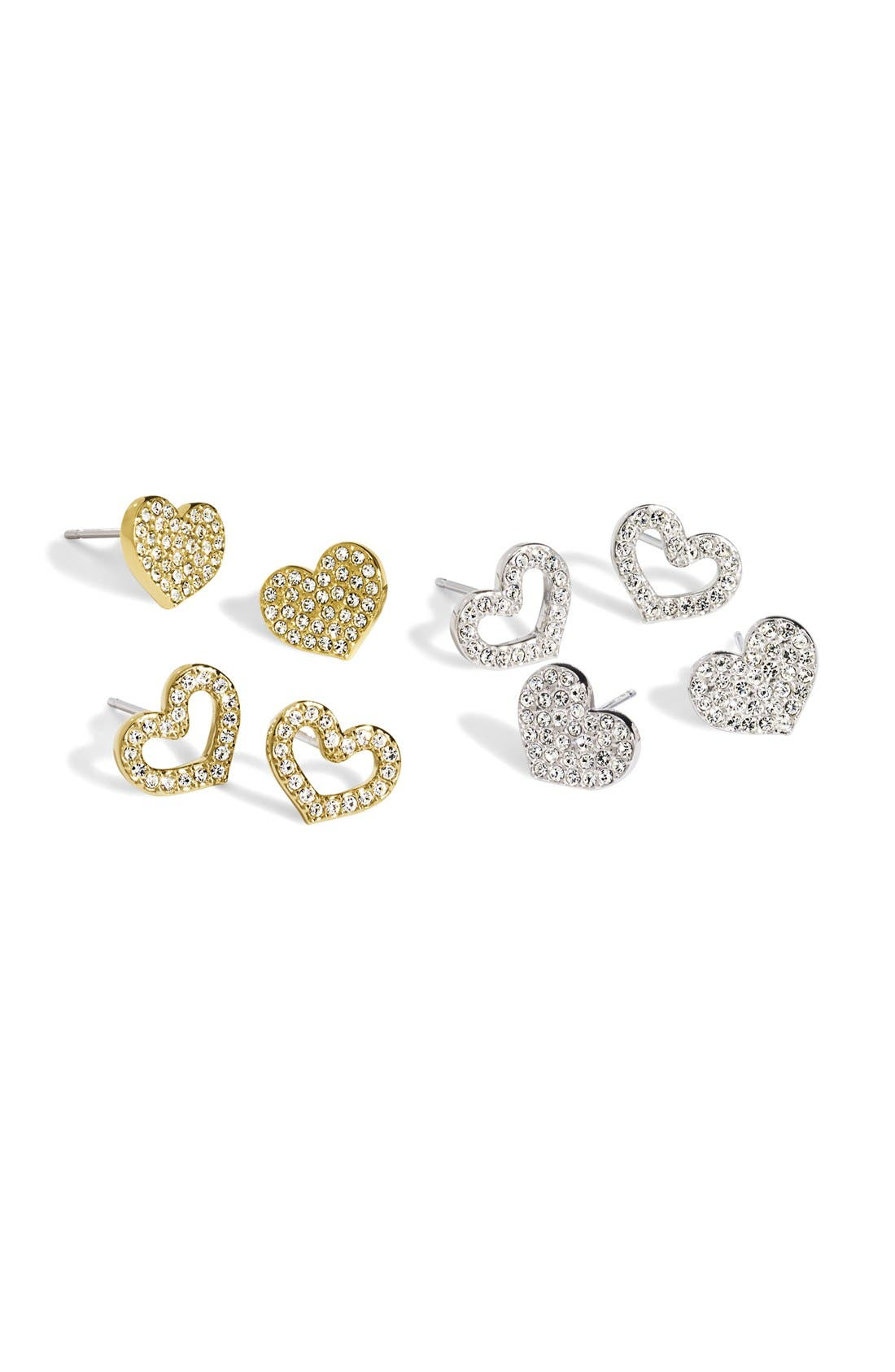 Alternate Image 3  - Nadri Pavé Heart Stud Earrings