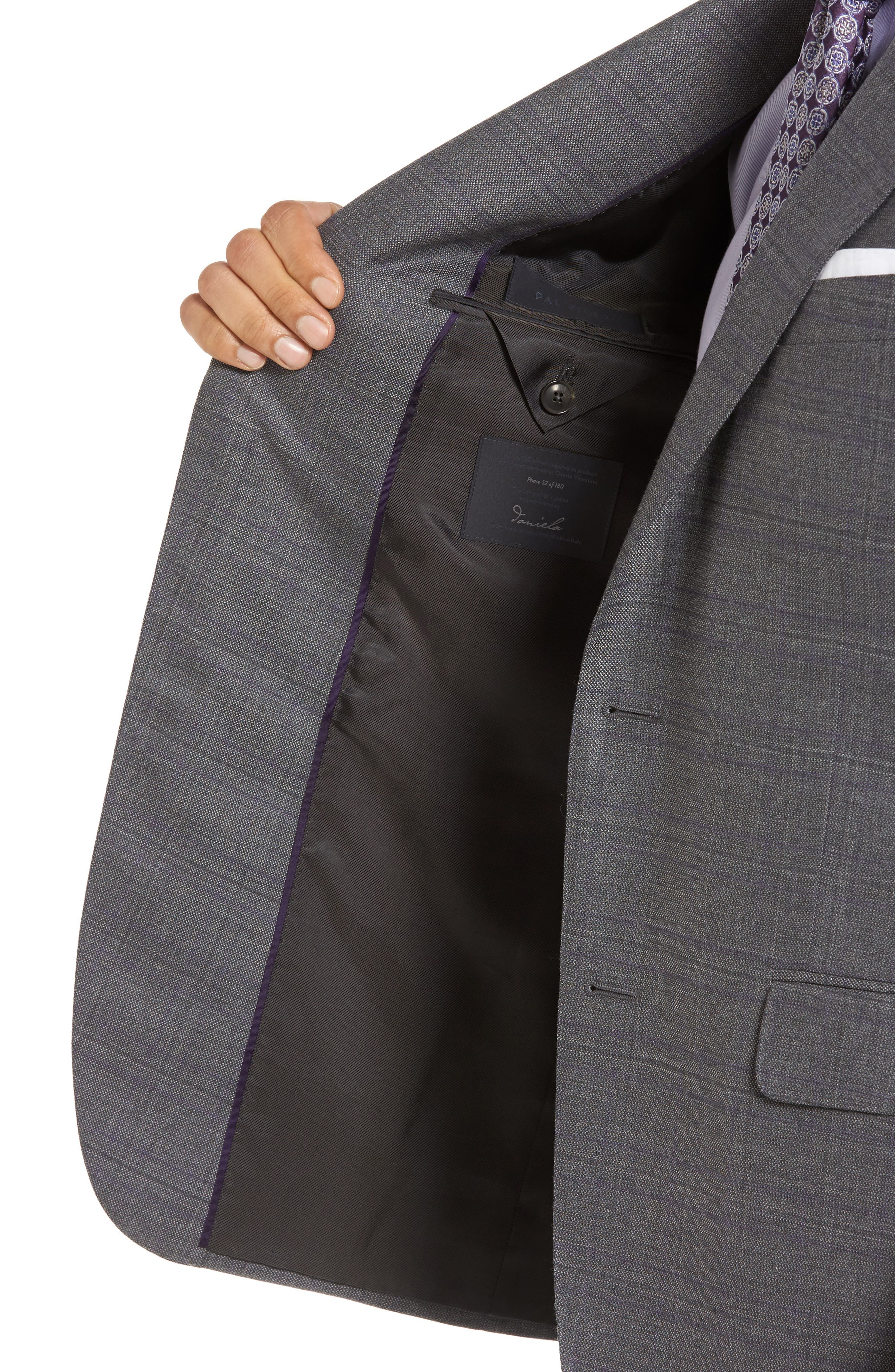 Classic Fit Windowpane Wool Sport Coat,                             Alternate thumbnail 4, color,                             Grey