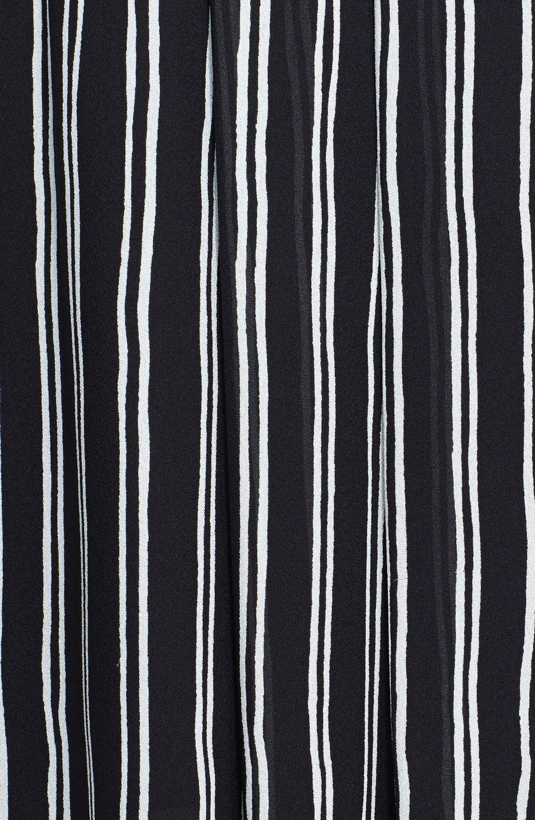 Alternate Image 3  - A.L.C. 'McDermott' Stripe Silk Midi Skirt