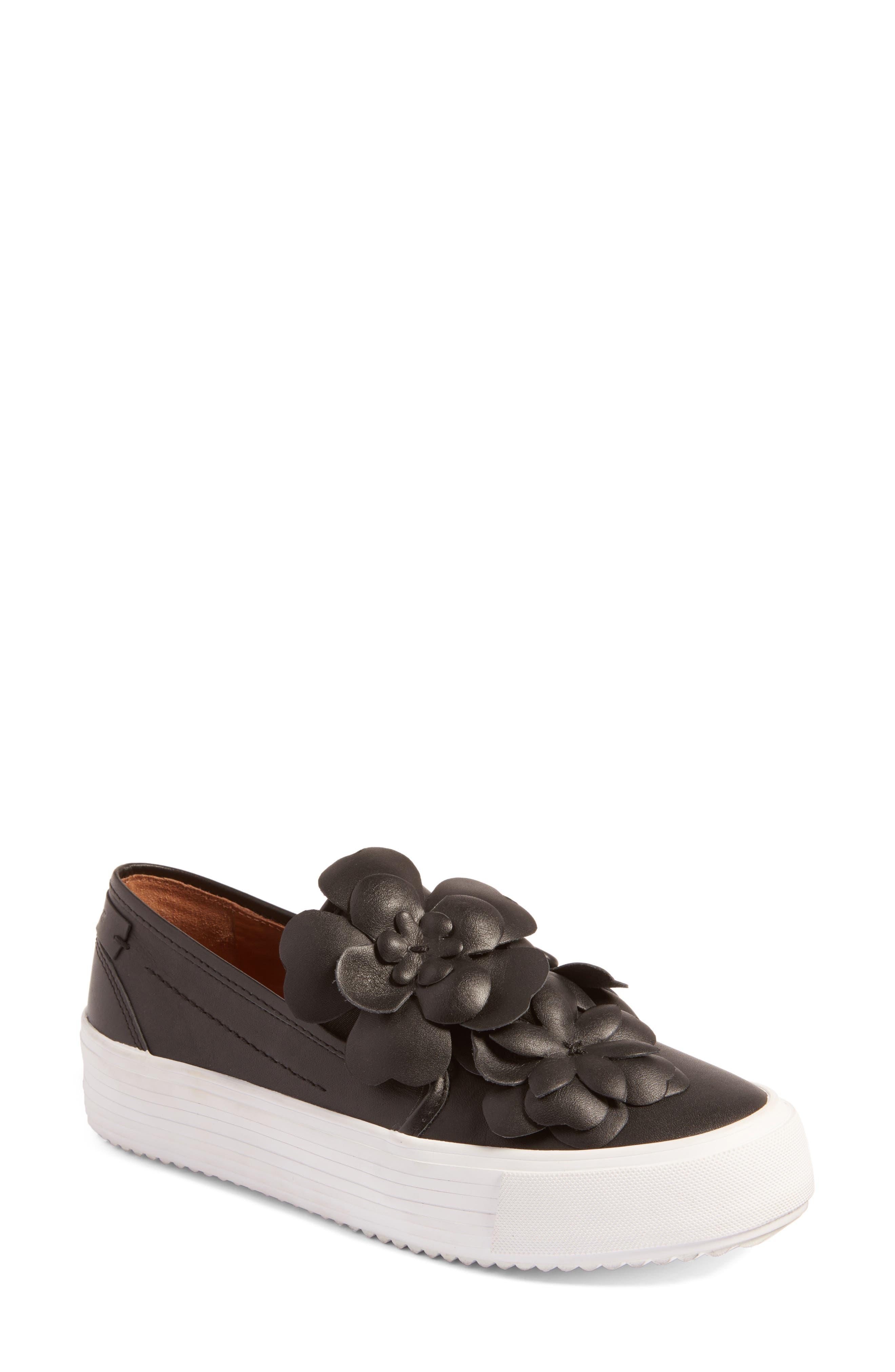 See by Chloé Vera Floral Appliqué Slip-On Sneaker (Women)