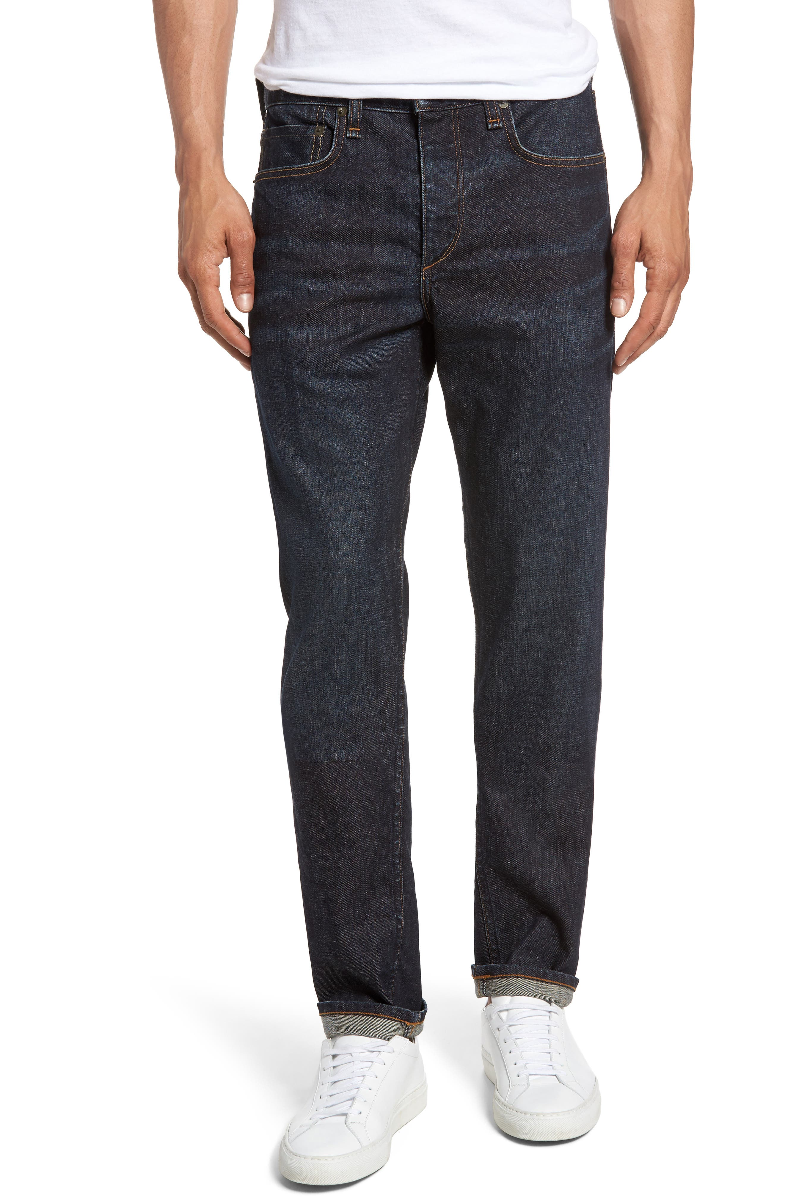 rag & bone Fit 2 Slim Fit Selvedge Jeans (Tempest)