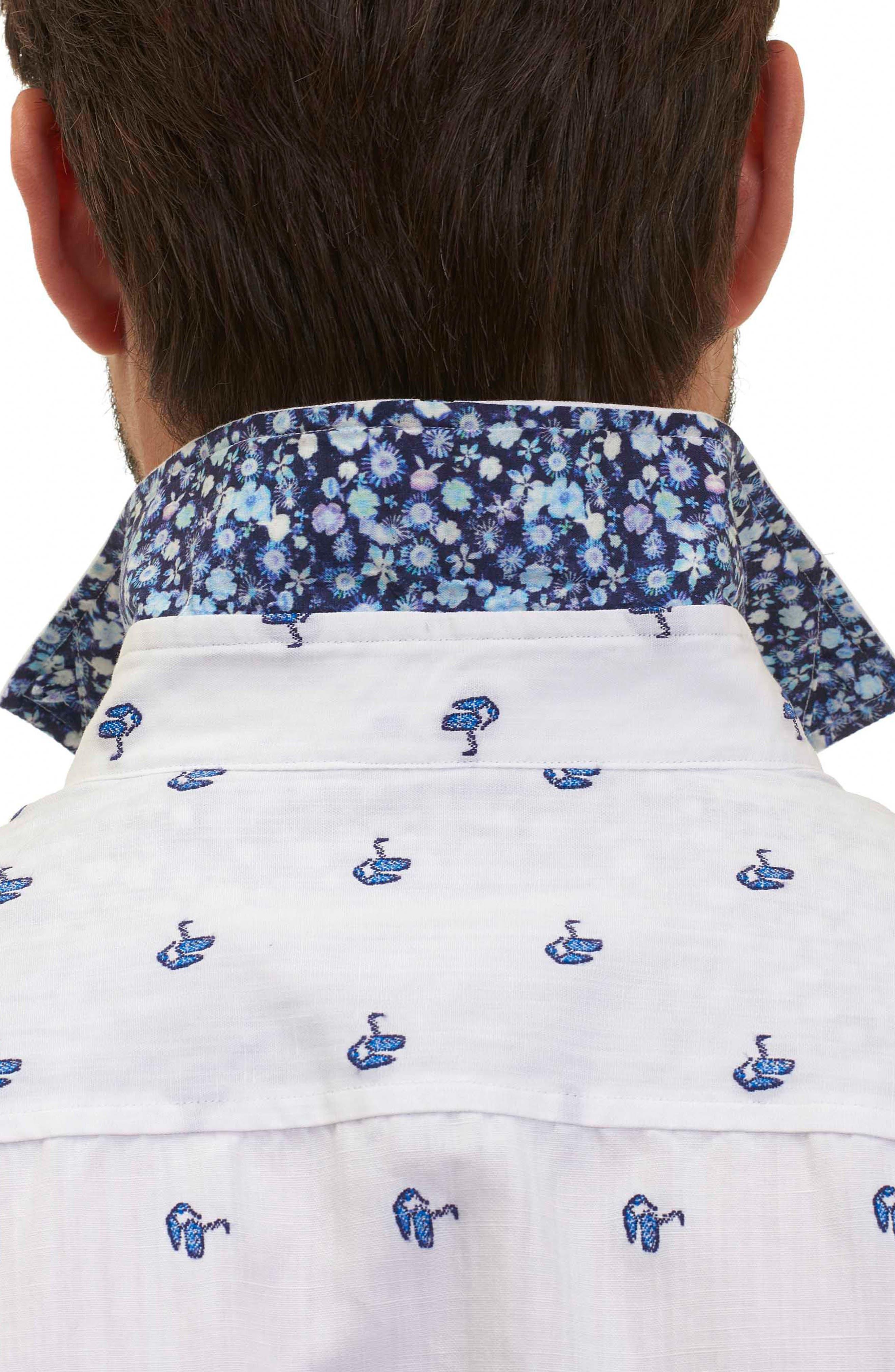 Alternate Image 5  - Robert Graham Tareck Tailored Fit Short Sleeve Sport Shirt