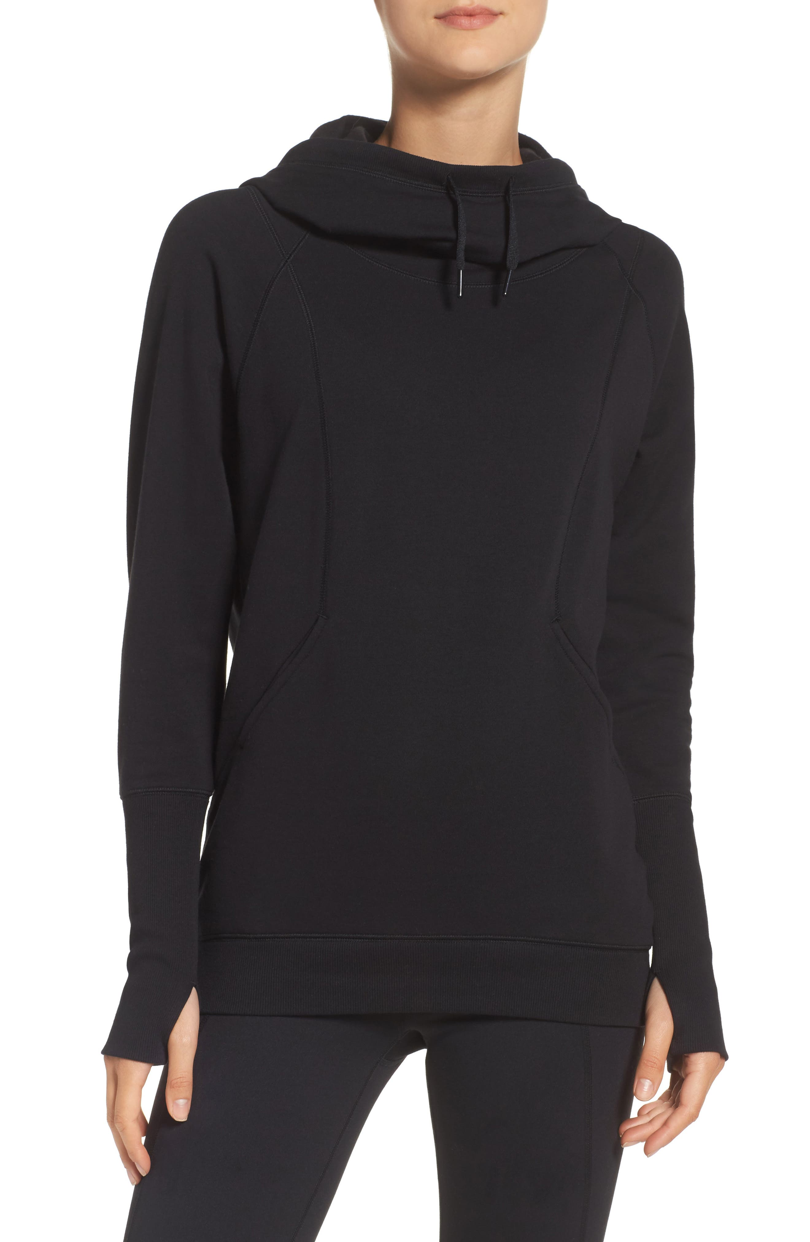 Outta Town Hoodie,                         Main,                         color, Black