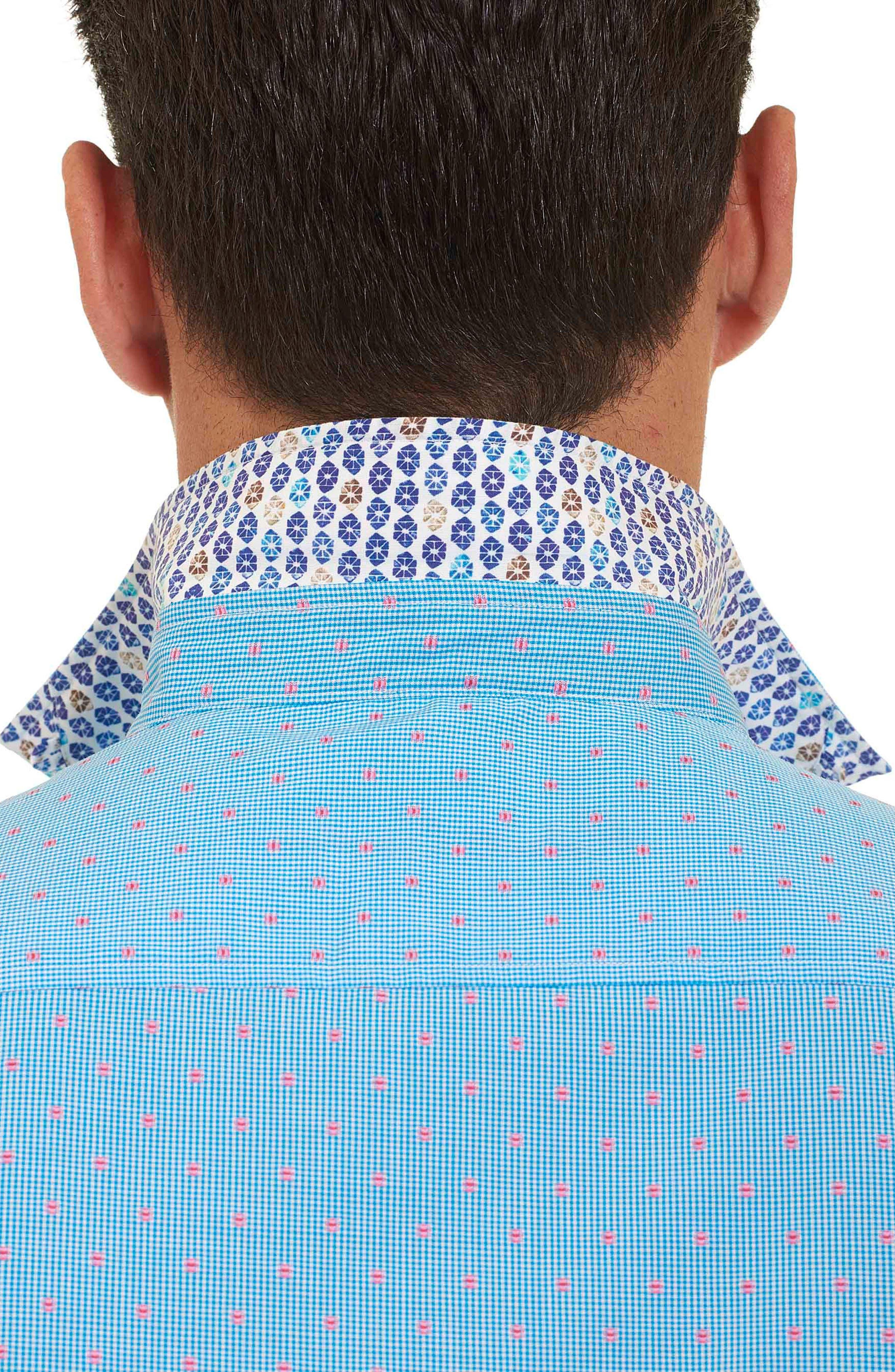 Alternate Image 6  - Robert Graham Tailored Fit Houndstooth Sport Shirt