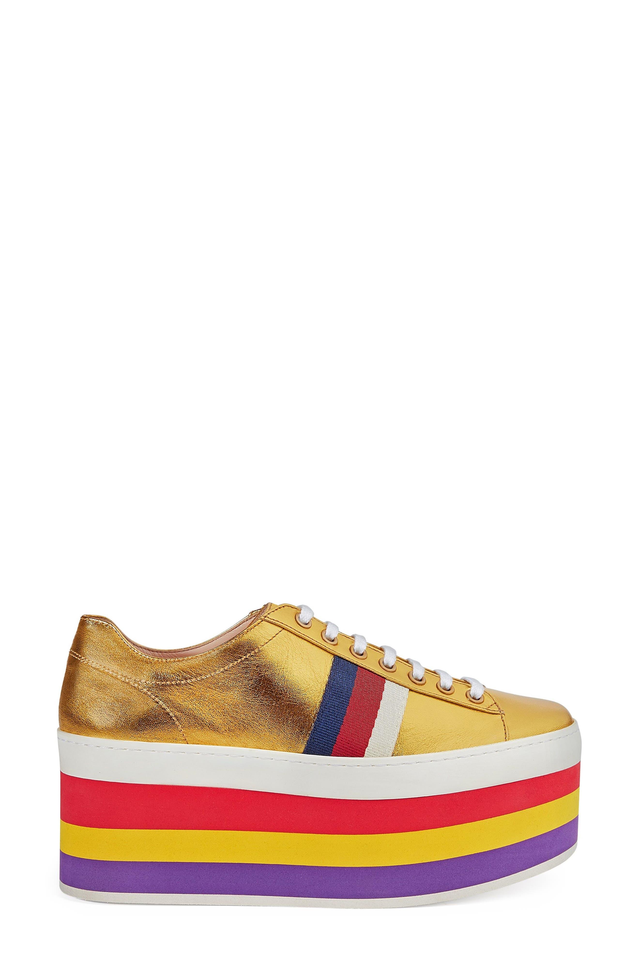 Alternate Image 1 Selected - Gucci Peggy Flatform Sneaker (Women)