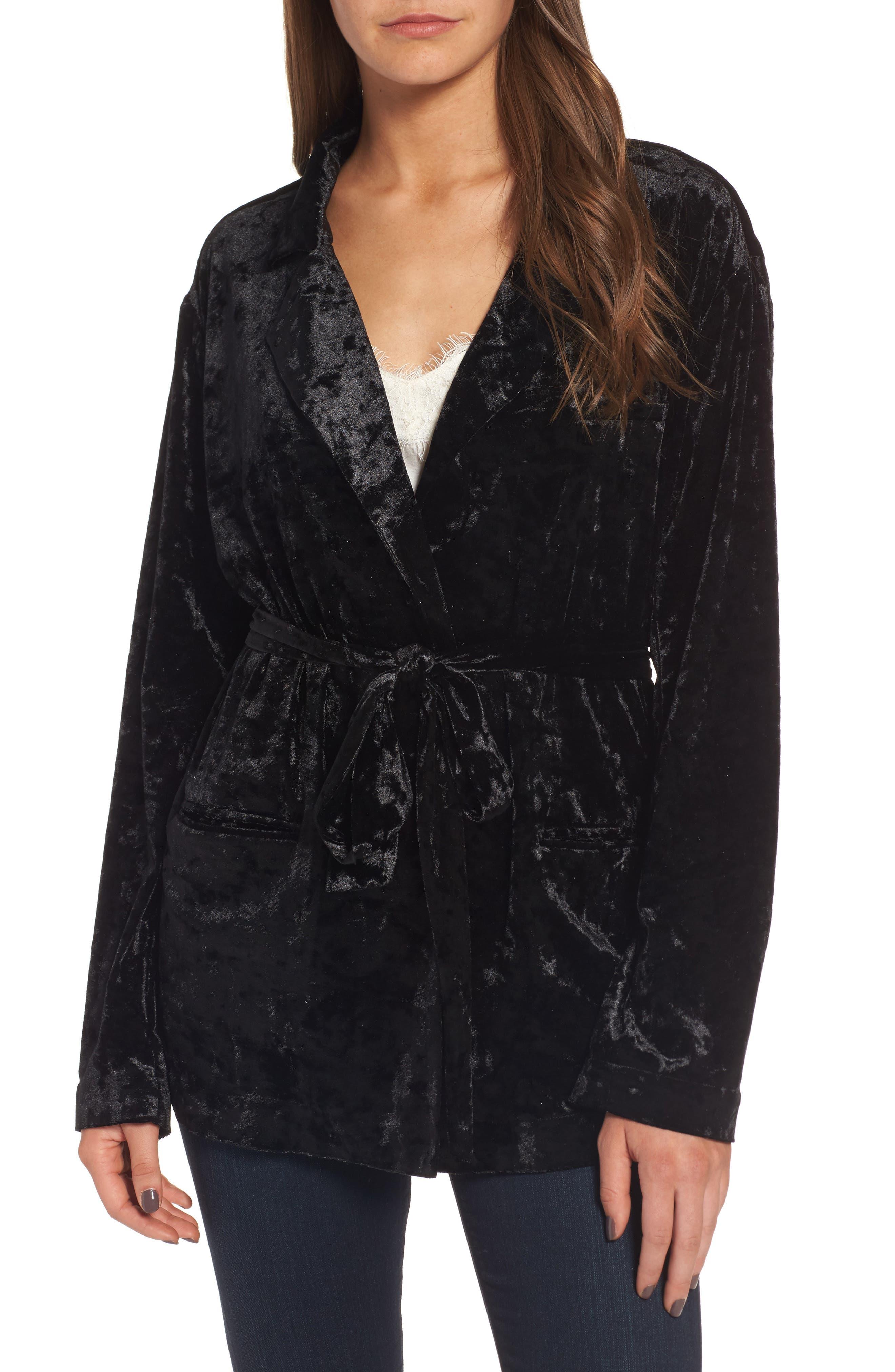 Alternate Image 1 Selected - Chelsea28 Velvet Smoking Jacket