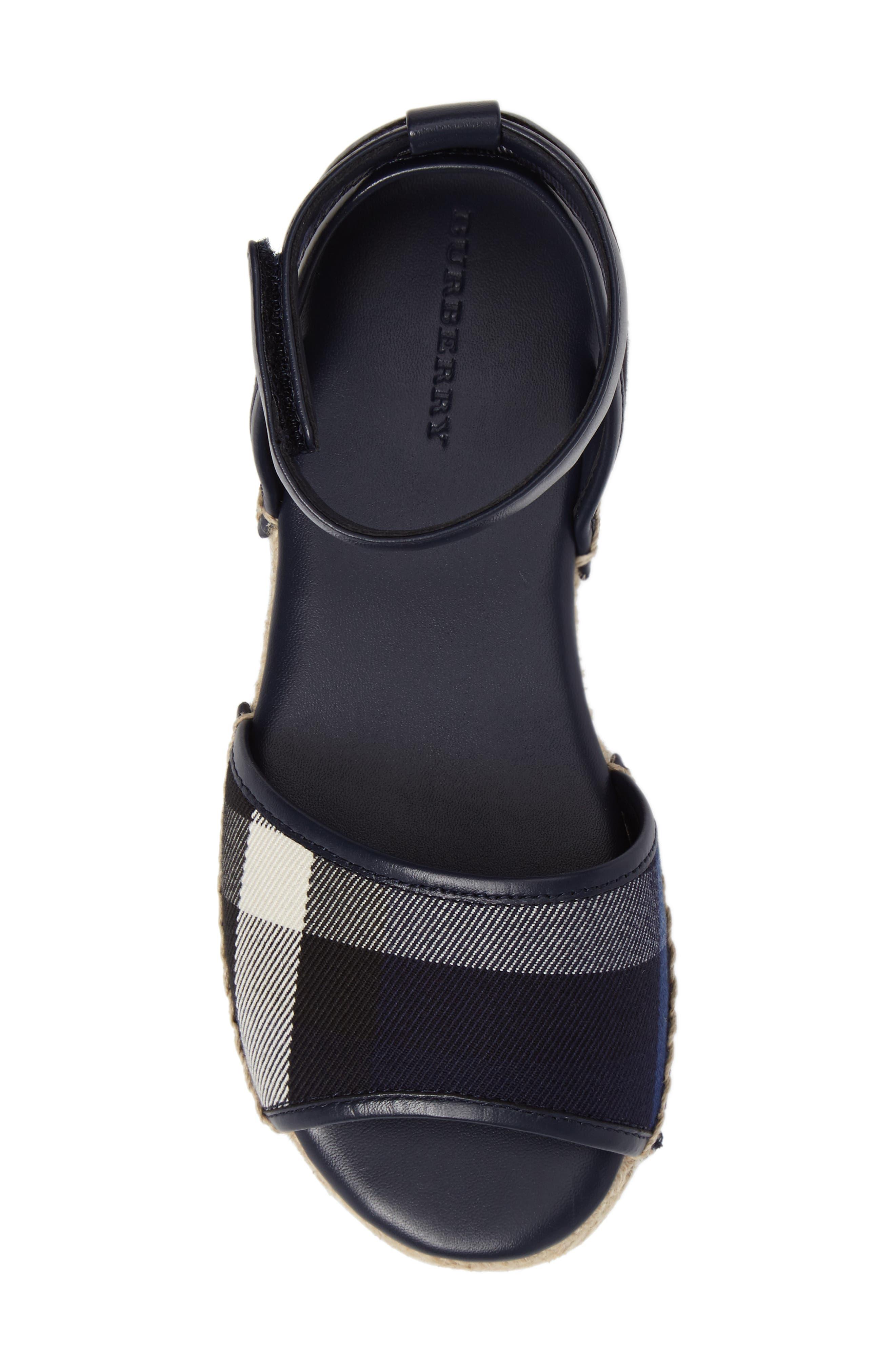 Alternate Image 5  - Burberry Livvy Ankle Strap Sandal (Walker, Toddler & Little Kid)