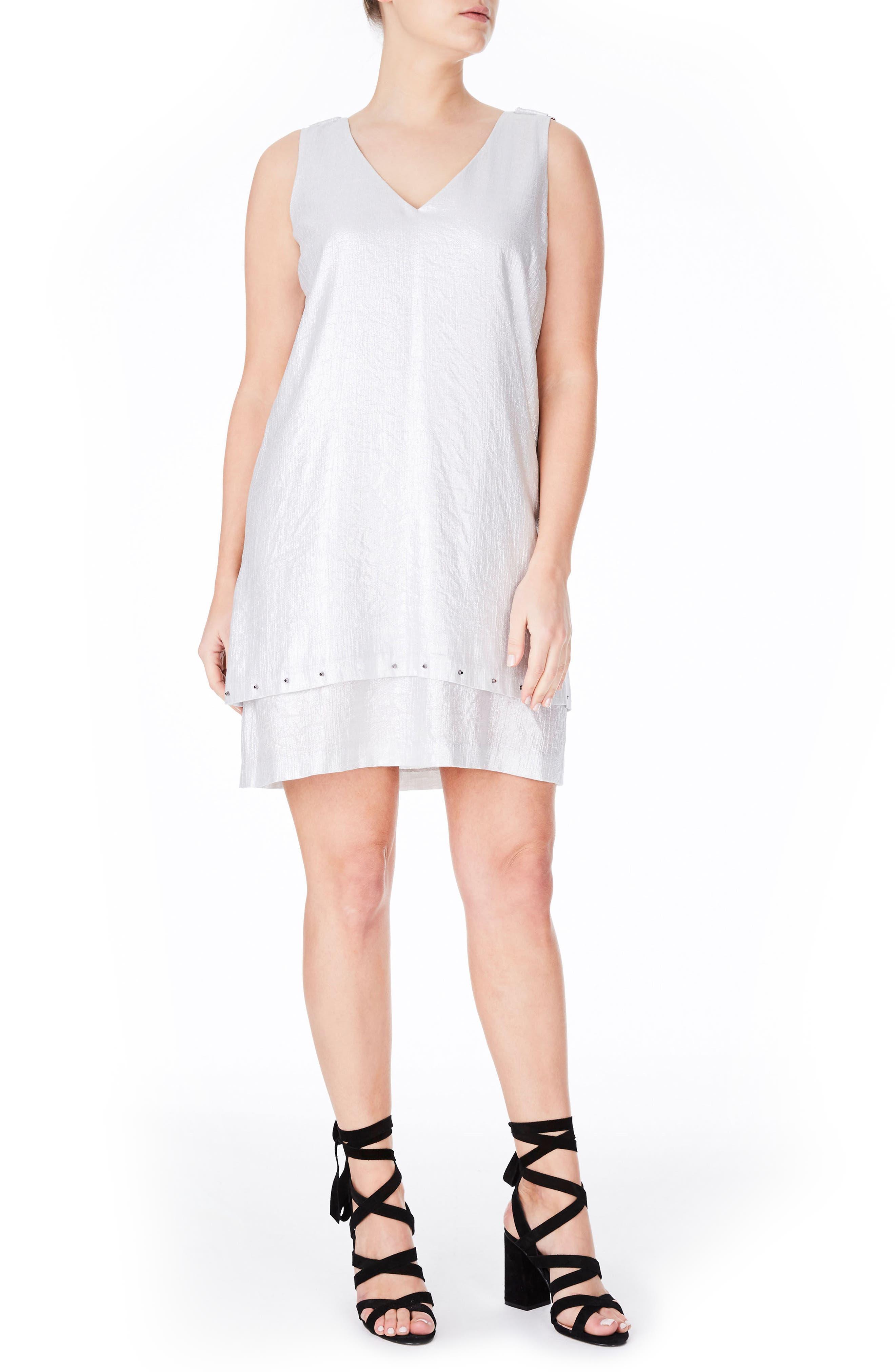 ELVI Metallic Sheath Dress (Plus Size)