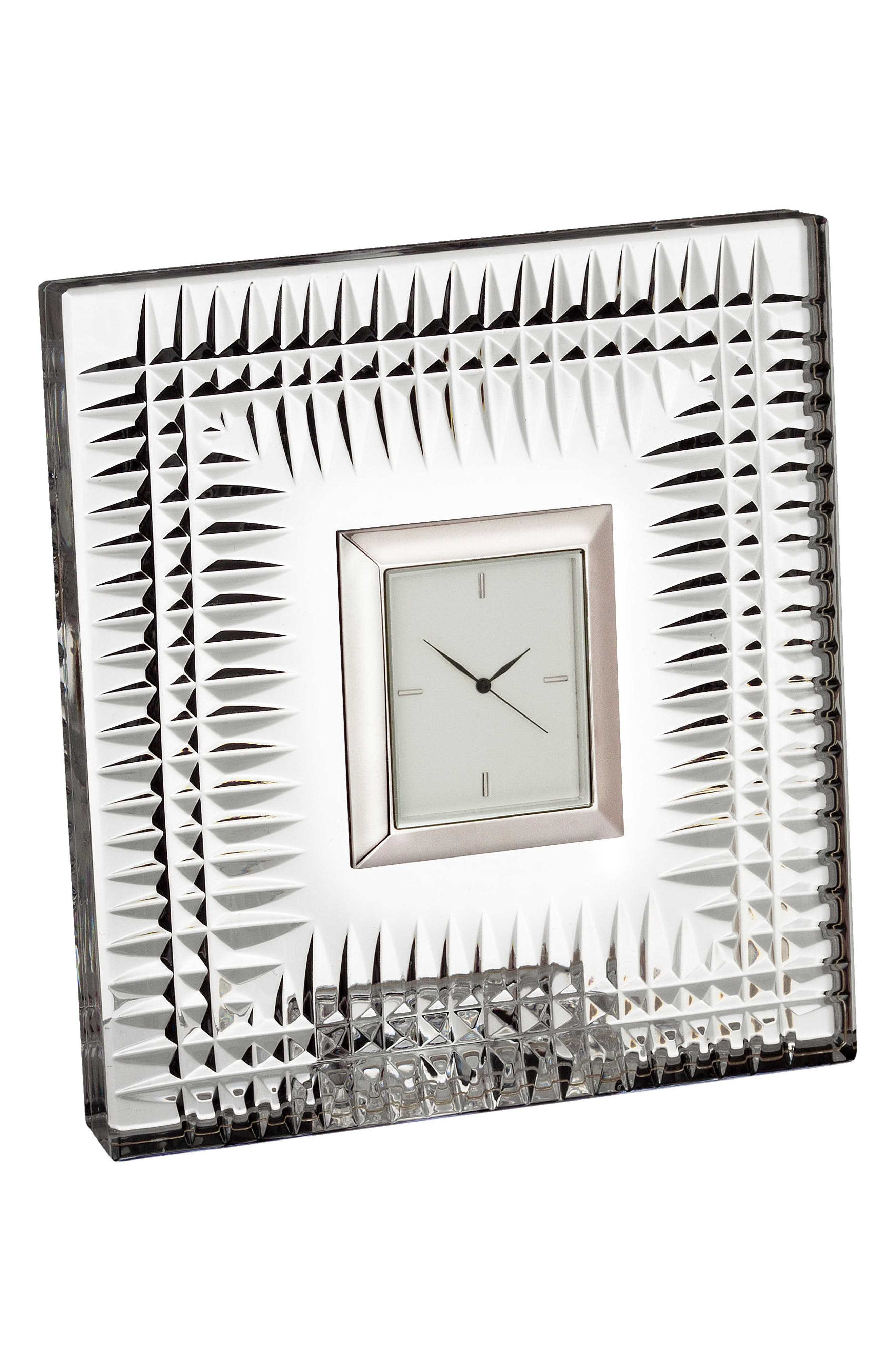 Lismore Diamond Crystal Clock,                         Main,                         color, Crystal