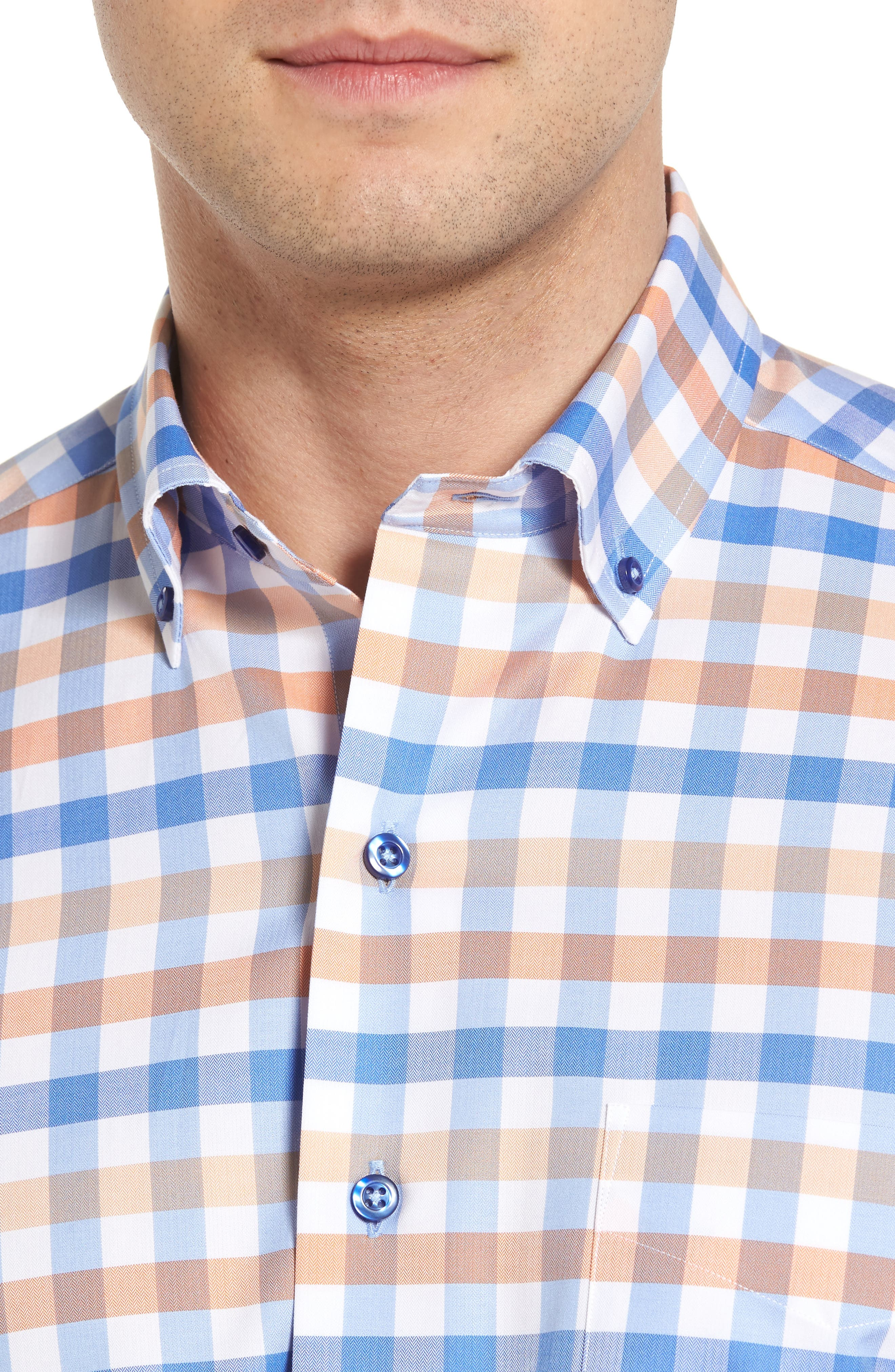 Alternate Image 4  - David Donahue Regular Fit Check Sport Shirt