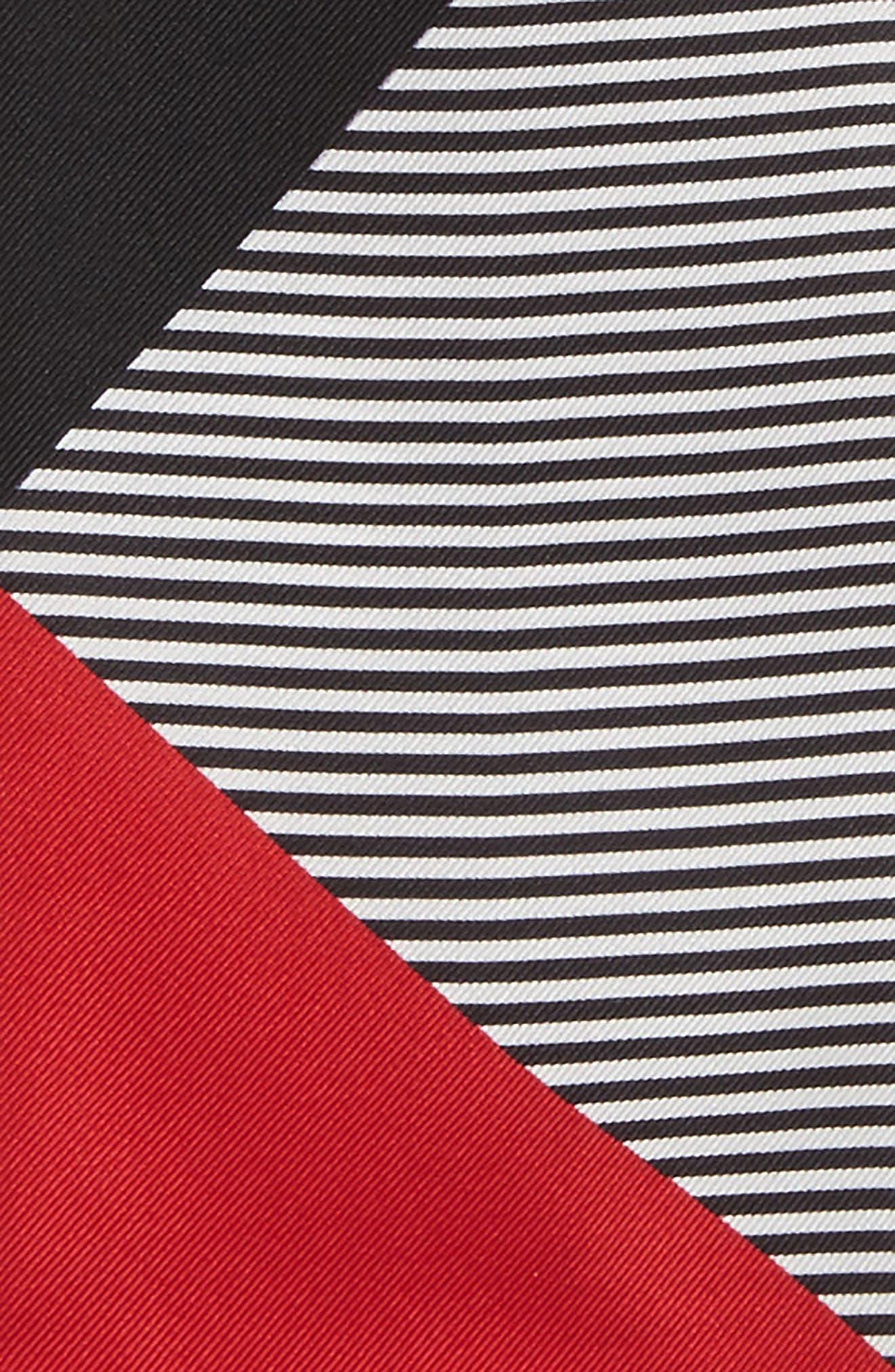 Alternate Image 4  - Burberry Mega Check Silk Skinny Scarf