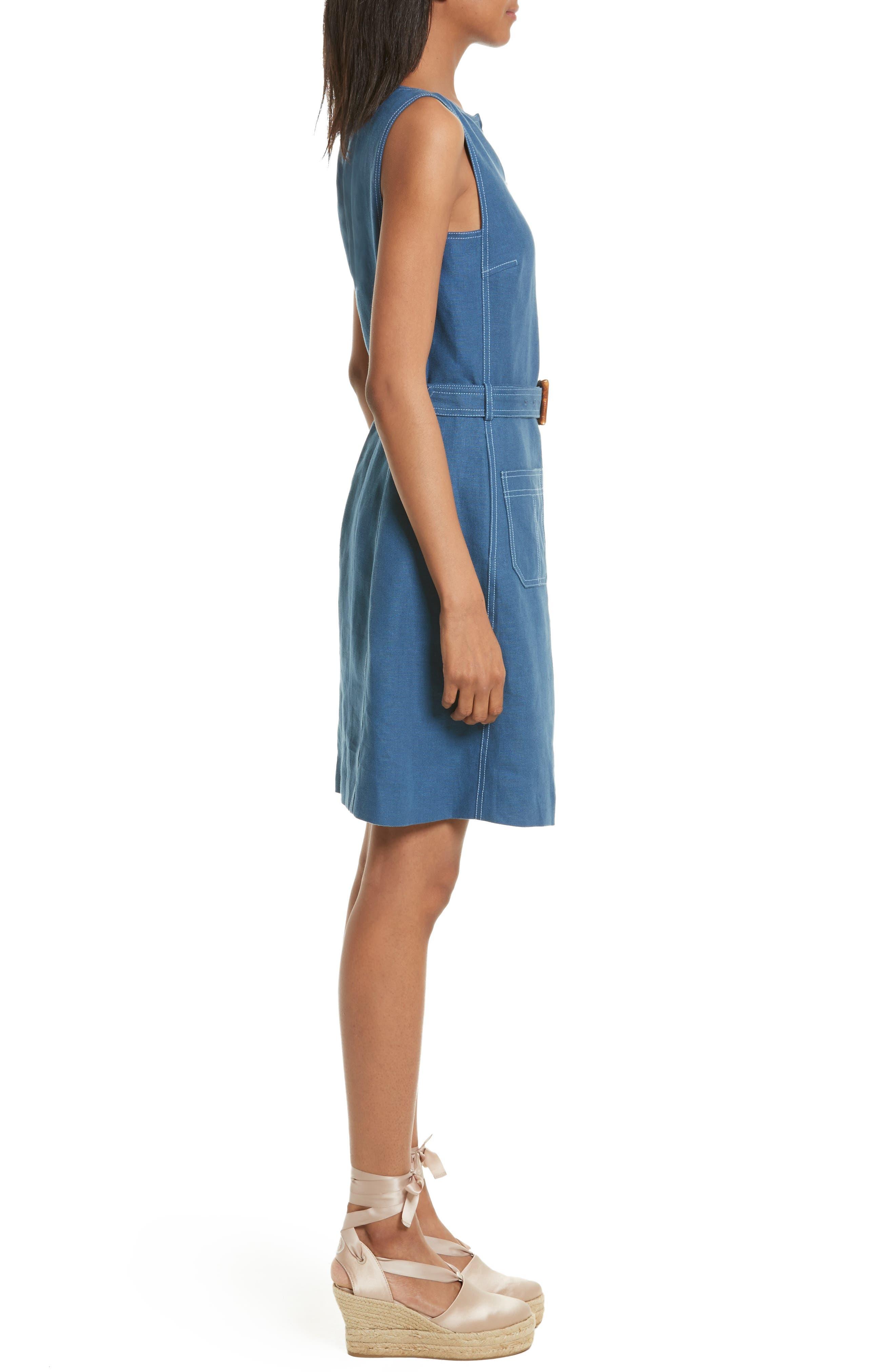 Alternate Image 3  - Tory Burch Nadia Linen A-Line Dress