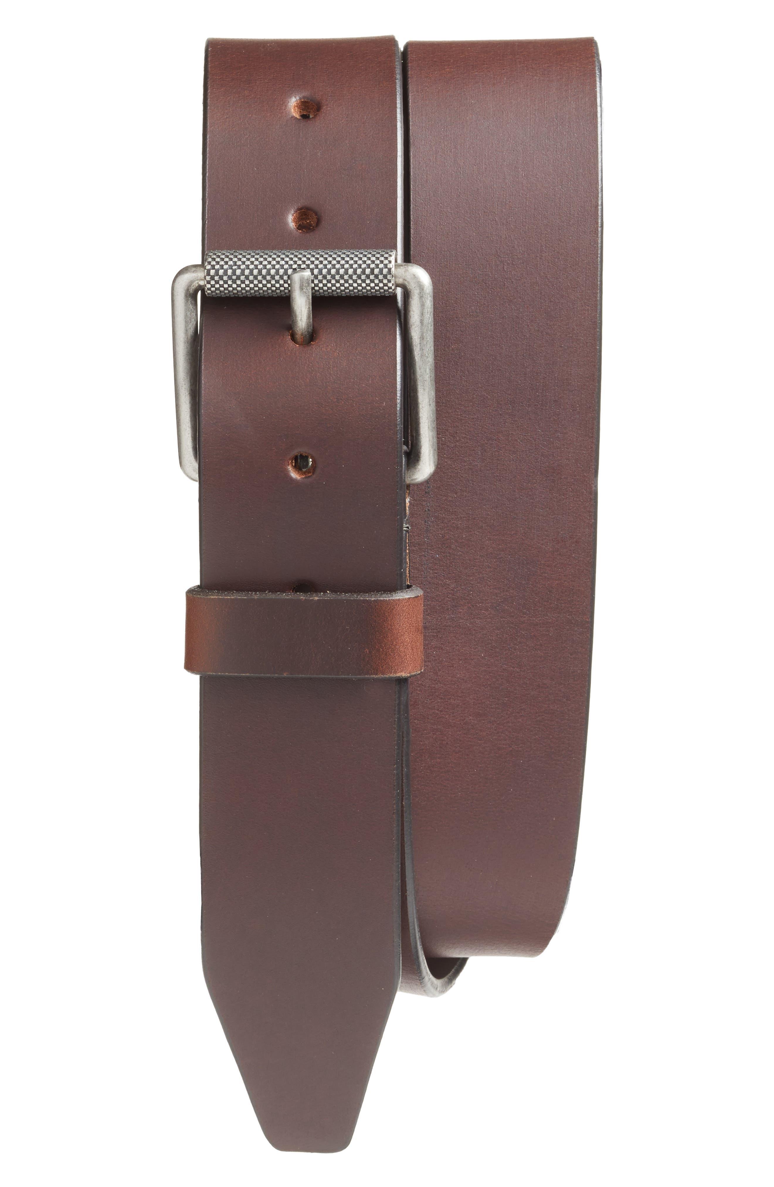 1901 Roller Buckle Leather Belt