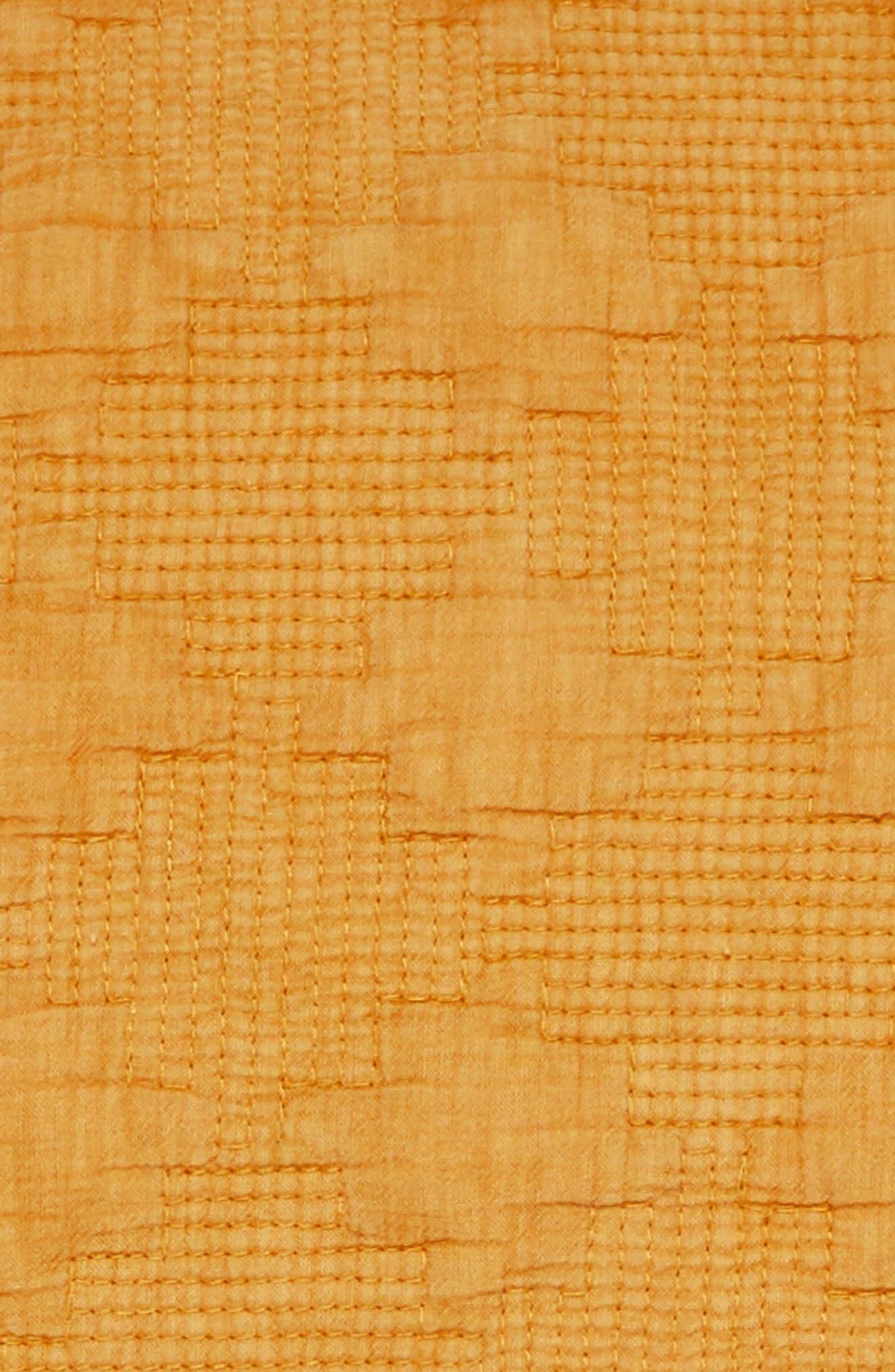 Garment Wash Sham,                             Alternate thumbnail 3, color,                             Yellow Tinsel
