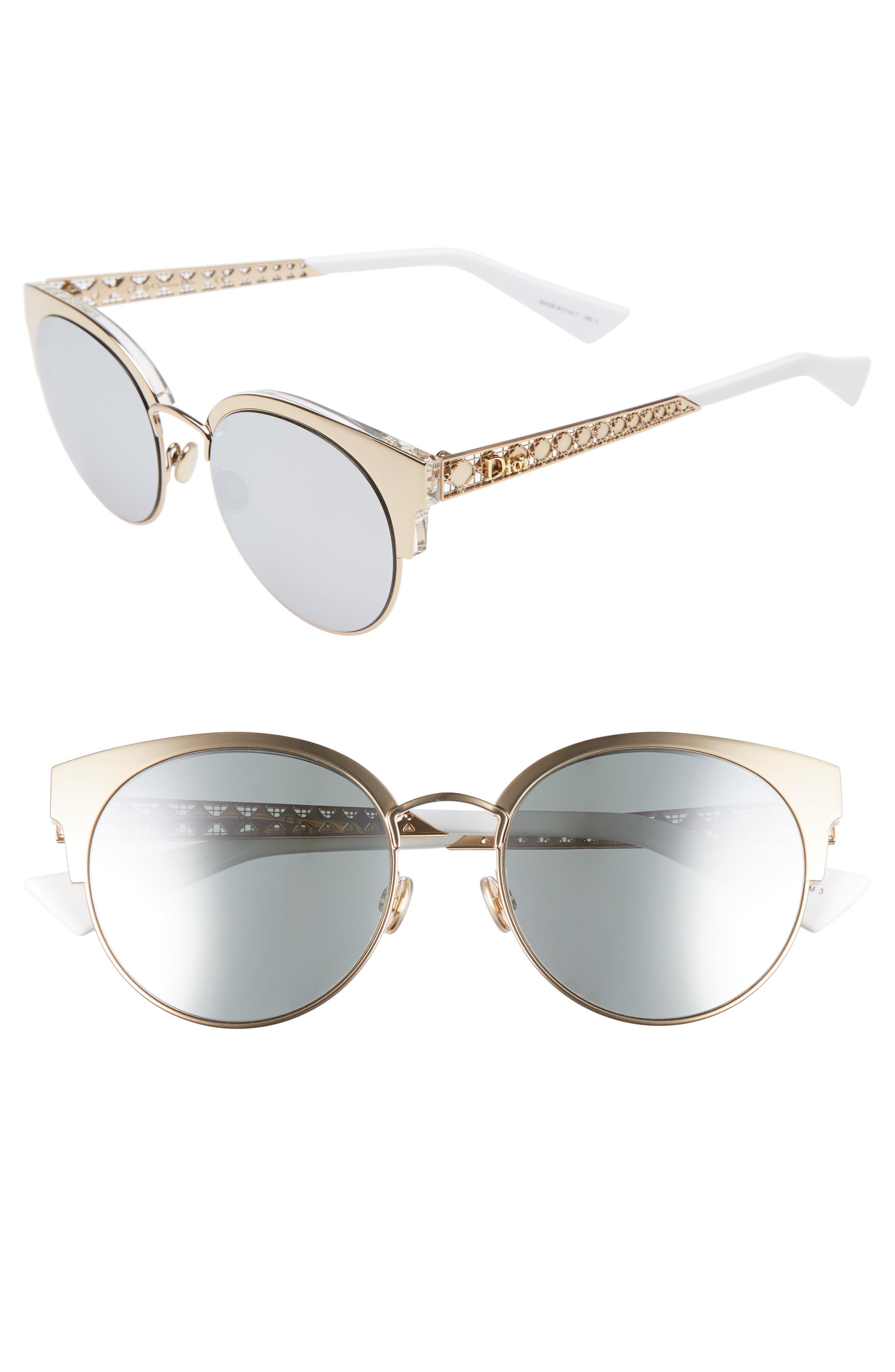 Dior Diorama Mini 54mm Mirrored Lens Cat Eye Sunglasses