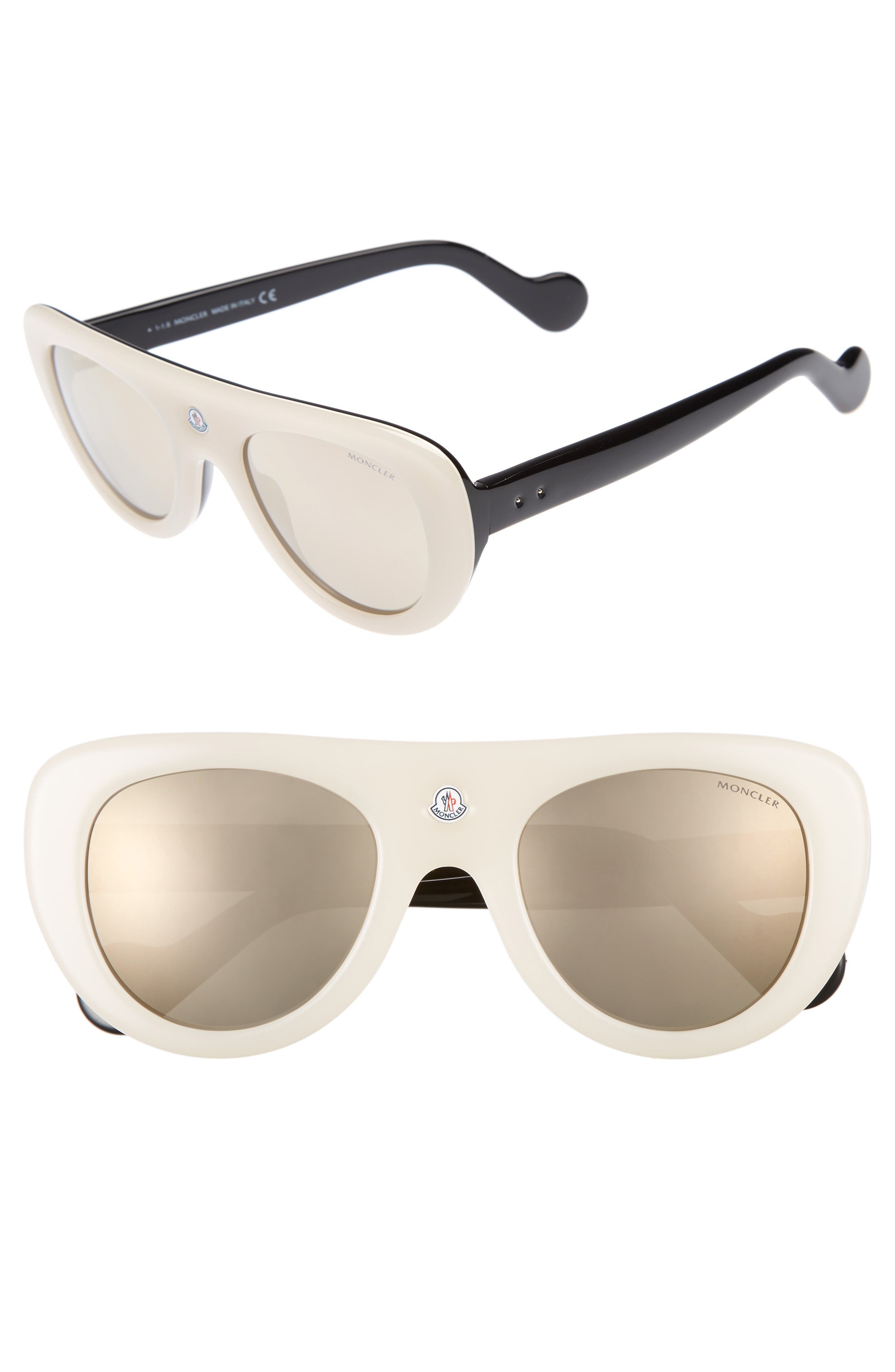 Moncler 51mm Shield Sunglasses