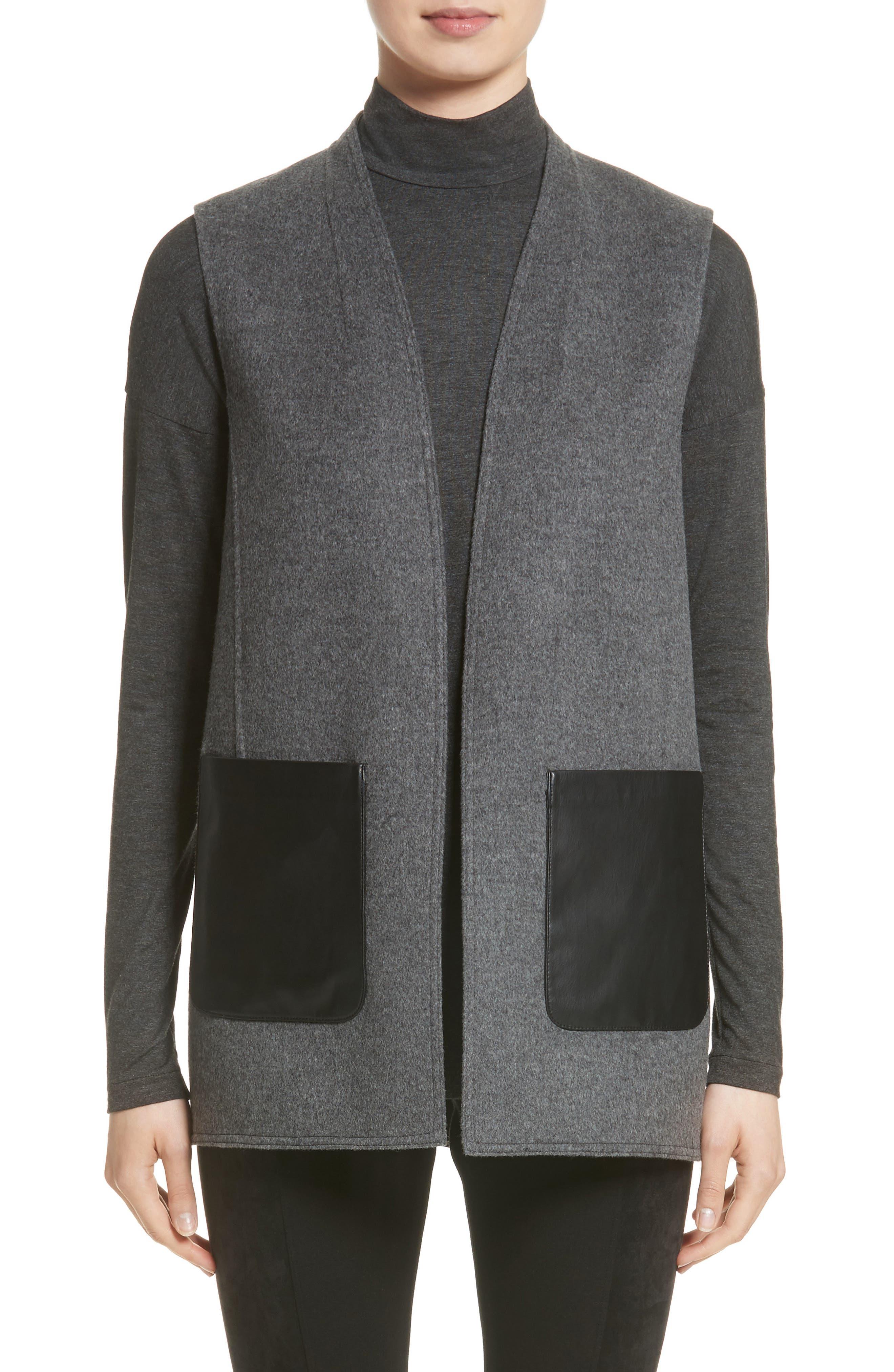 Lafayette 148 New York Nika Wool & Cashmere Reversible Vest (Nordstrom Exclusive)