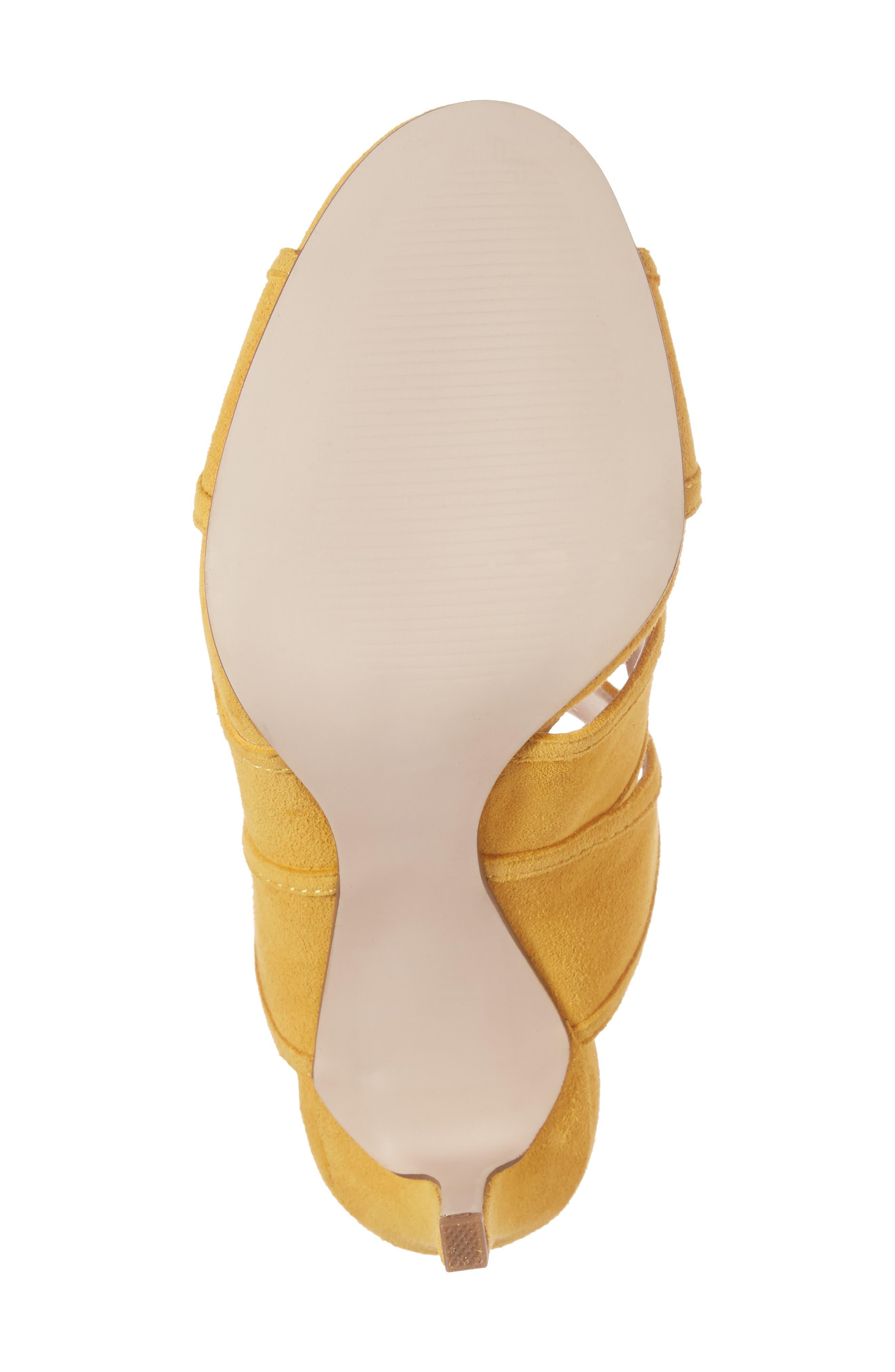 Esme Cross Strap Sandal,                             Alternate thumbnail 6, color,                             Spicy Mustard Suede