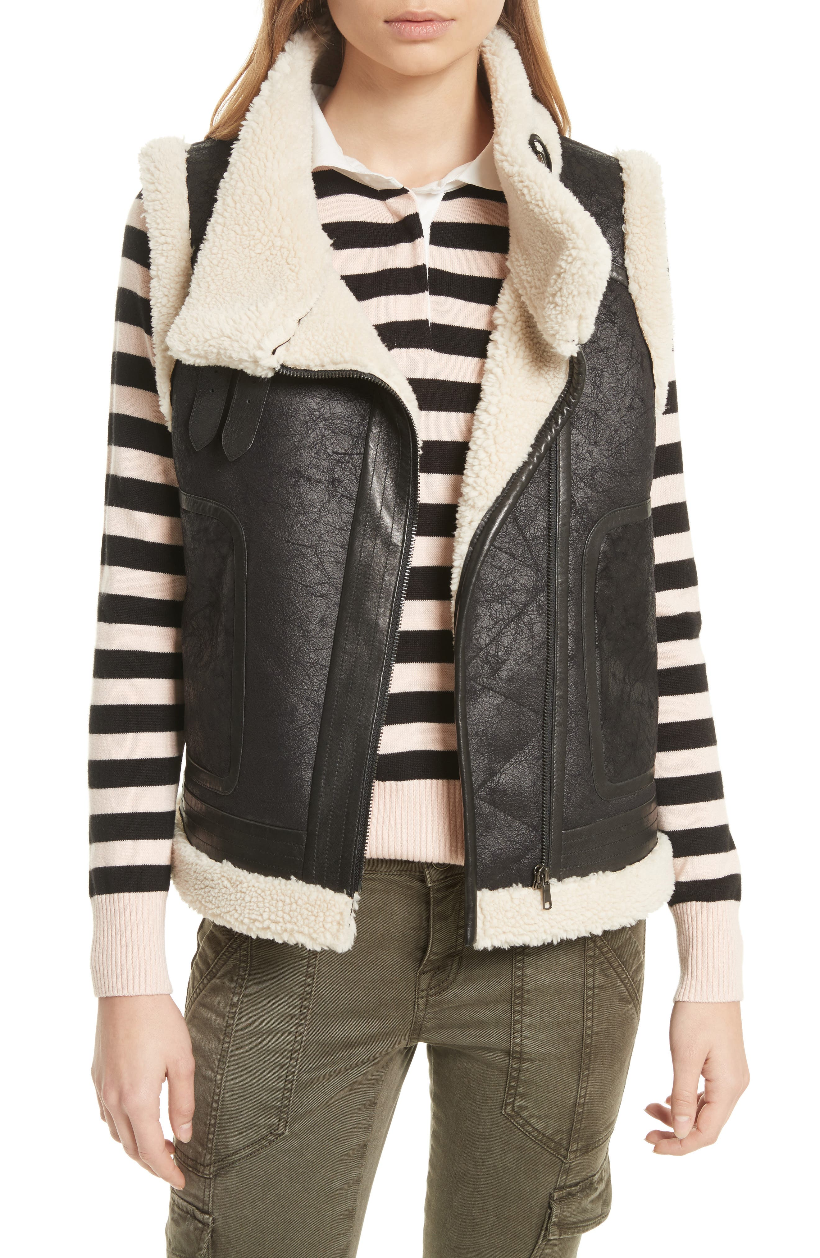 Alternate Image 1 Selected - Joie Danay Faux Shearling Vest